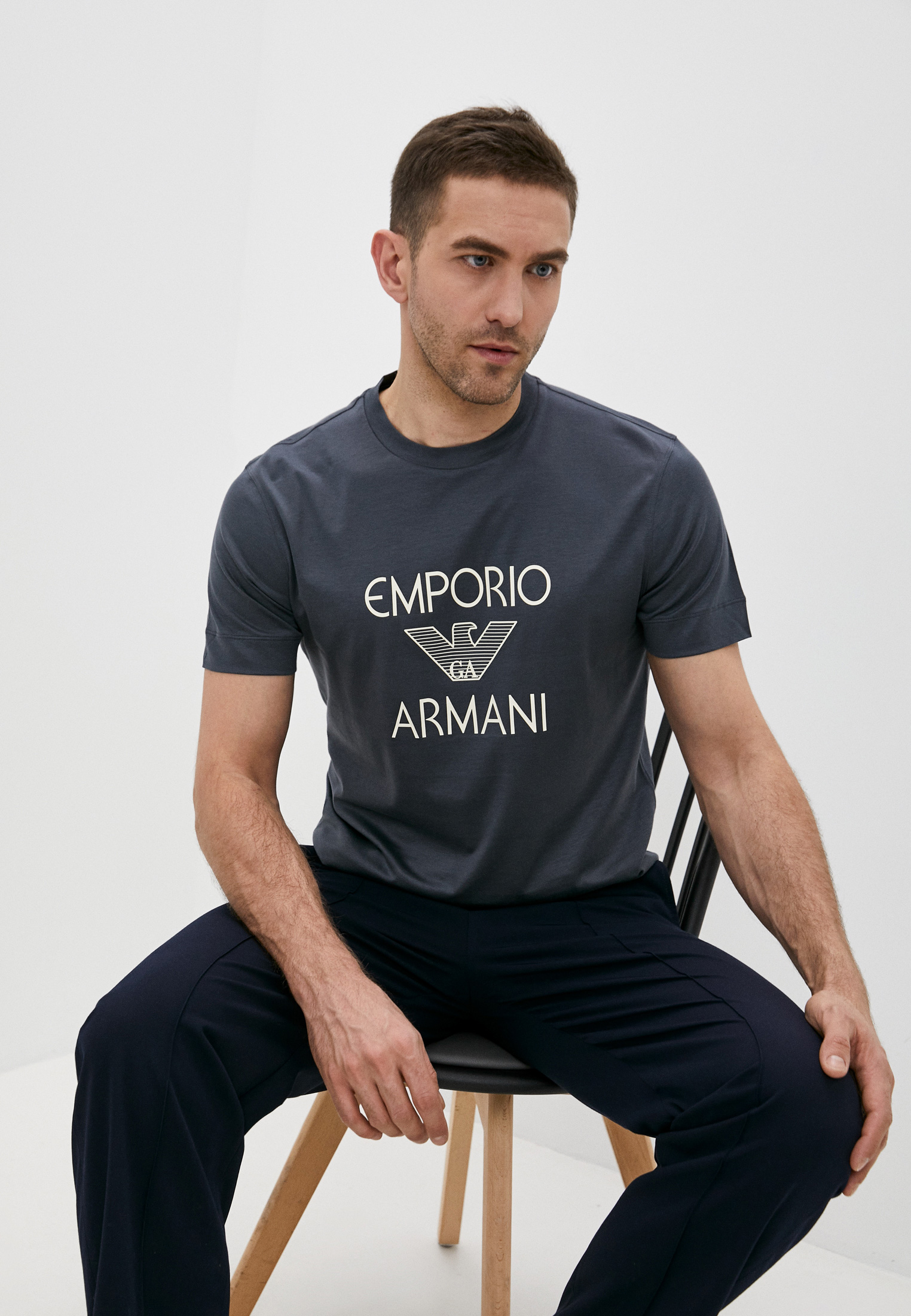 Мужская футболка Emporio Armani (Эмпорио Армани) 3K1TAF1JUVZ