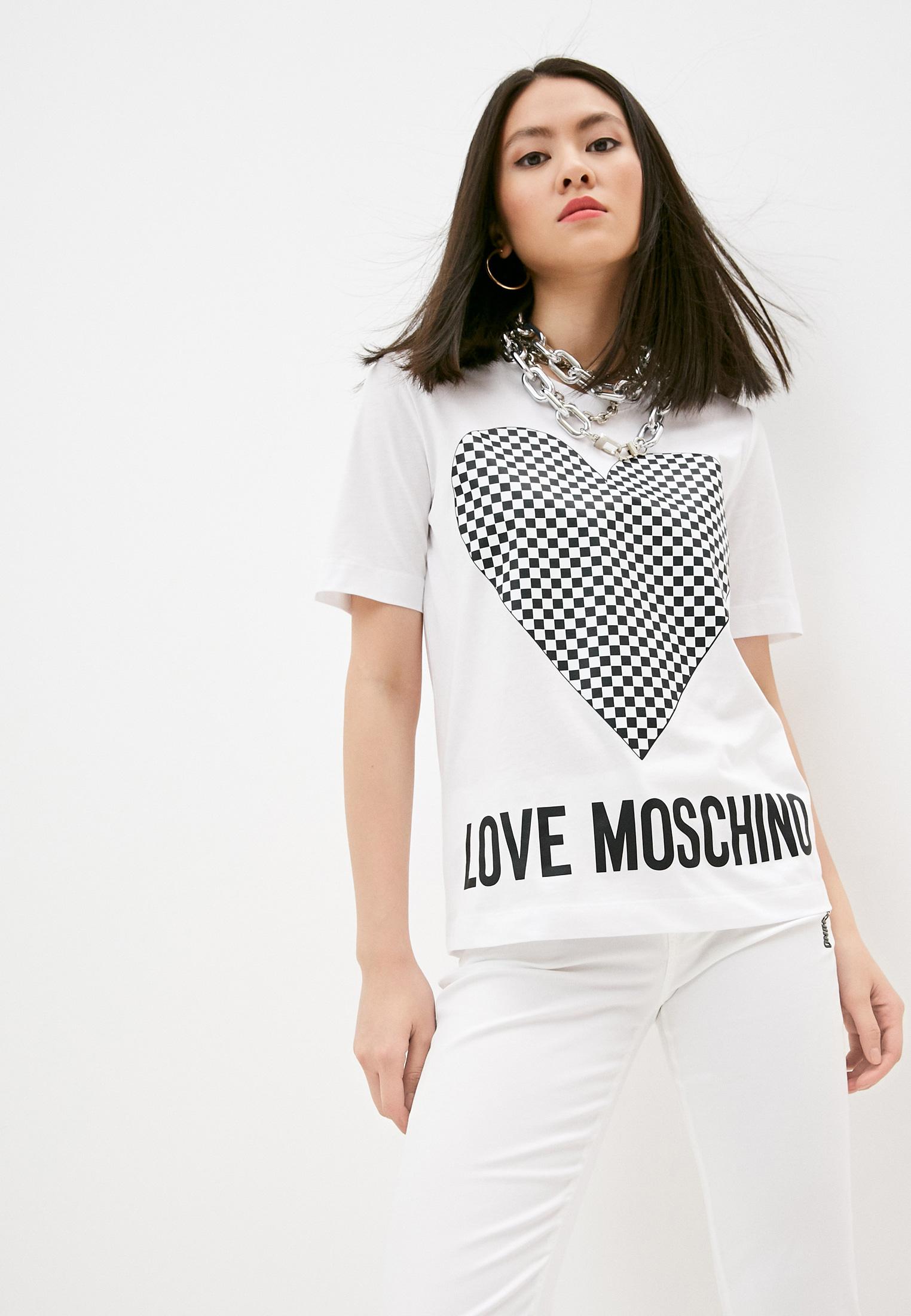 Футболка с коротким рукавом Love Moschino (Лав Москино) W4F152CM3876A00