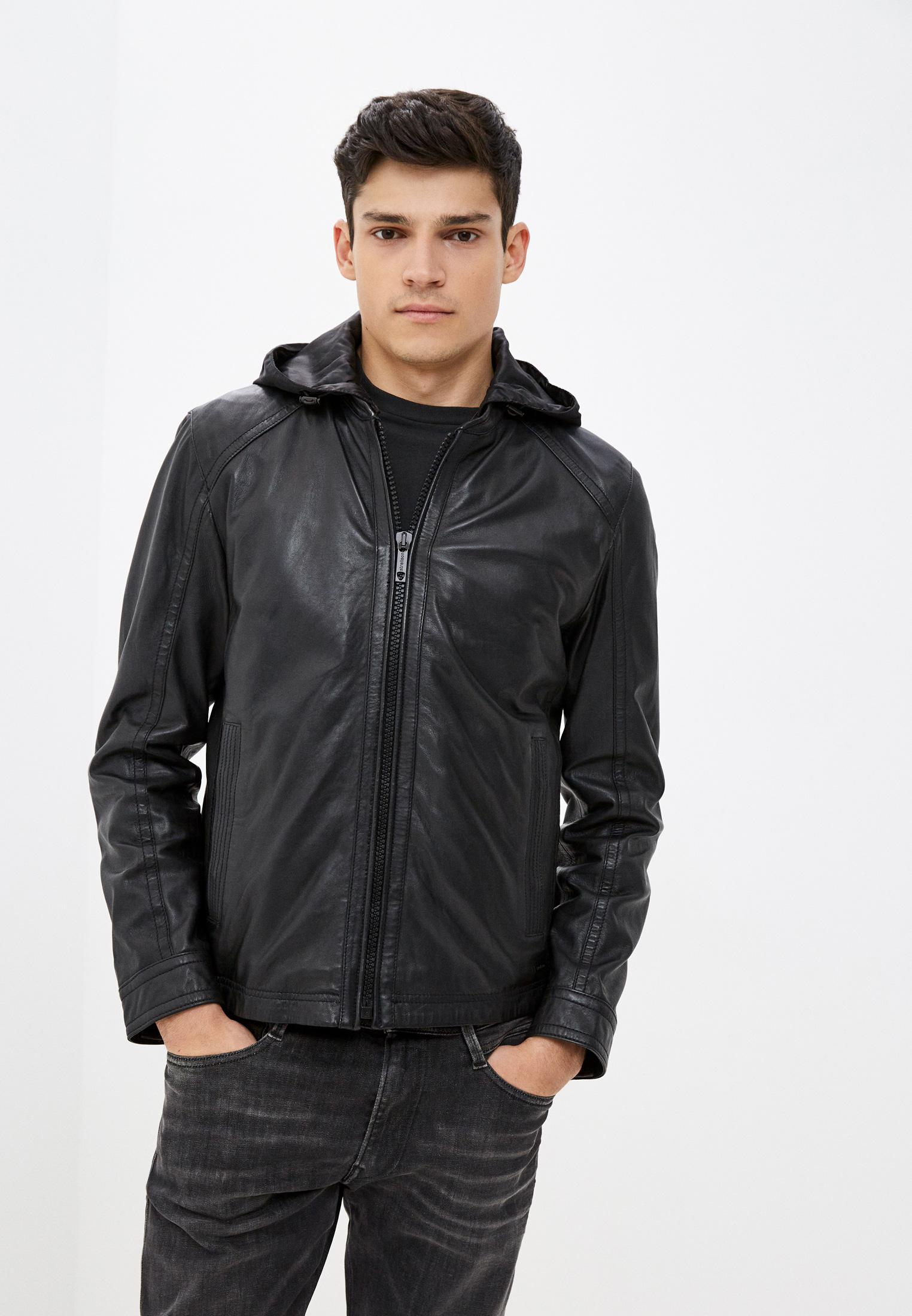 Кожаная куртка Strellson Куртка кожаная Strellson