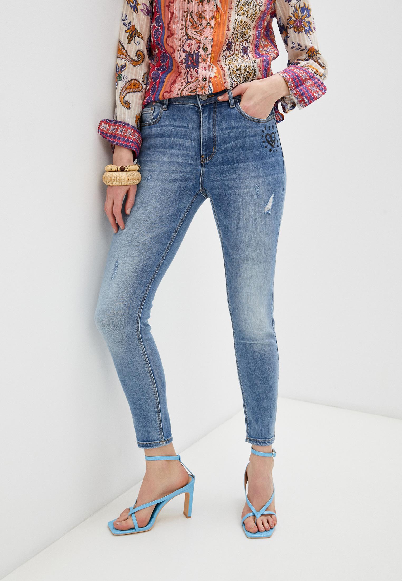 Зауженные джинсы Desigual (Дезигуаль) 21SWDD10