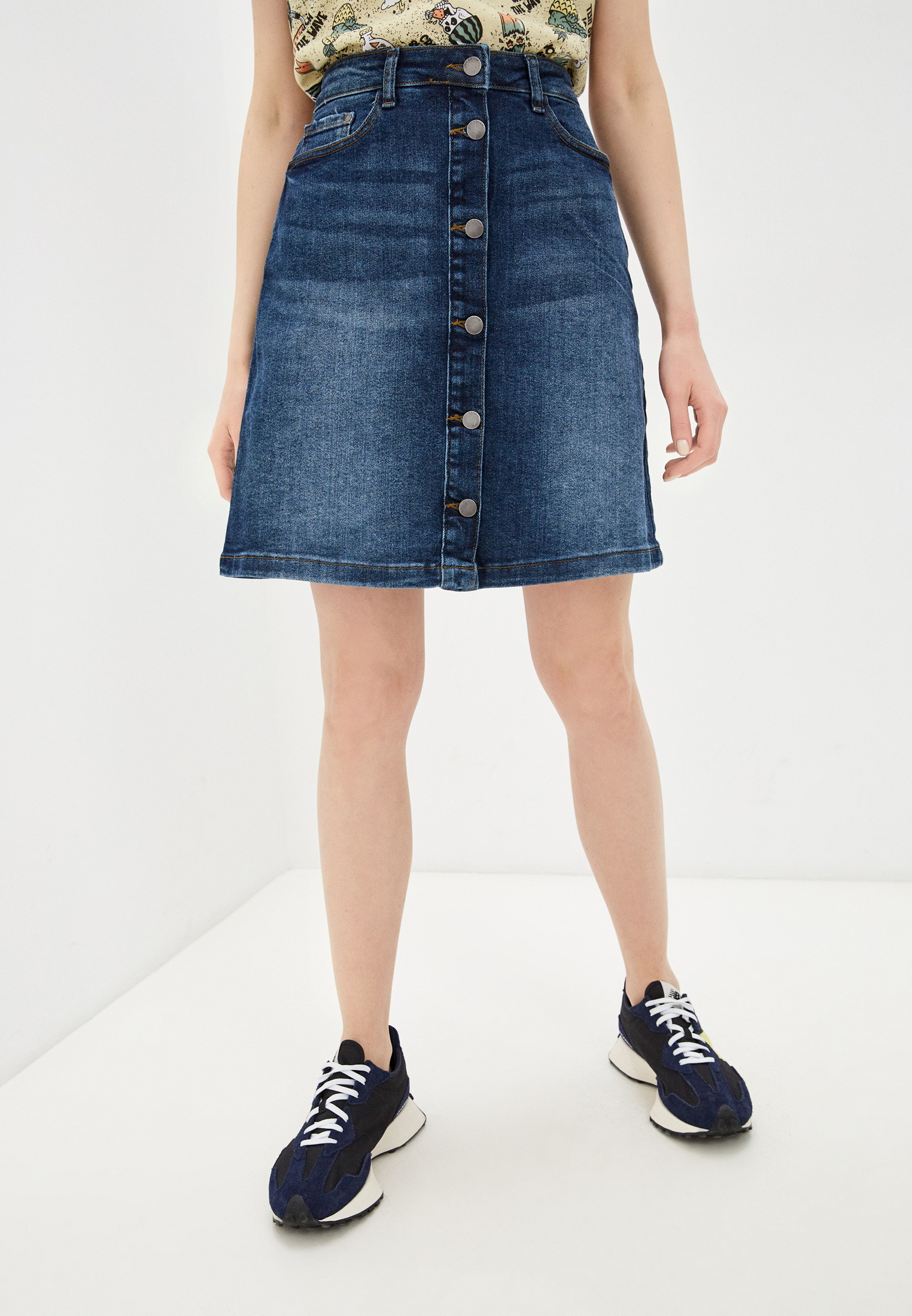 Джинсовая юбка Jacqueline de Yong Юбка джинсовая Jacqueline de Yong