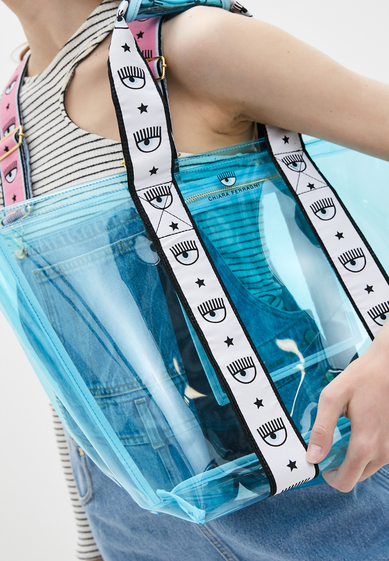 Пляжная сумка Chiara Ferragni Collection 21PE-CFBAG006: изображение 5