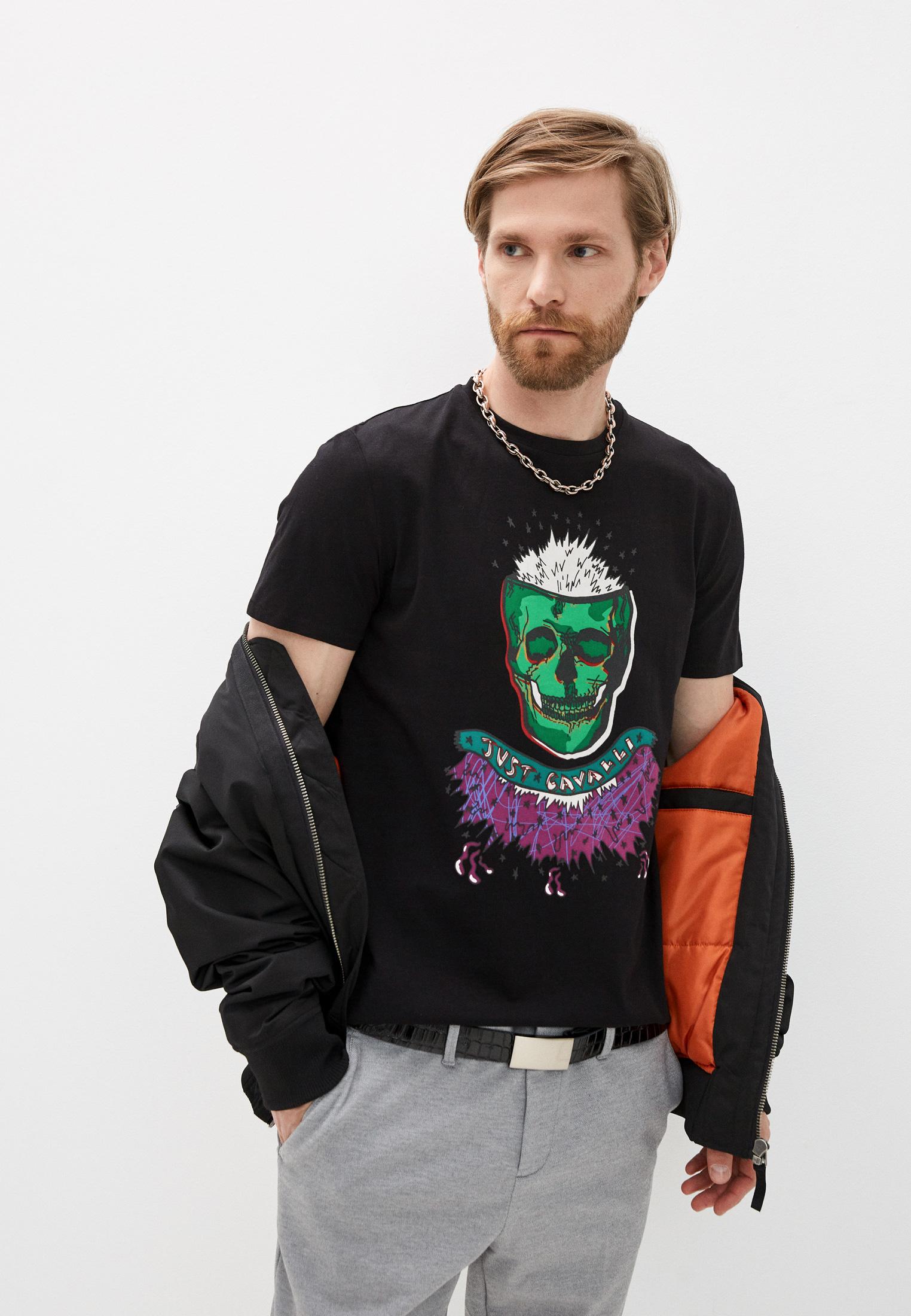 Мужская футболка Just Cavalli (Джаст Кавалли) S03GC0600N20663