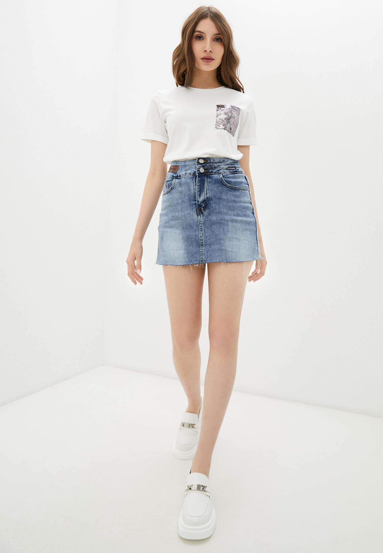Джинсовая юбка Aaquamarina 92400: изображение 2
