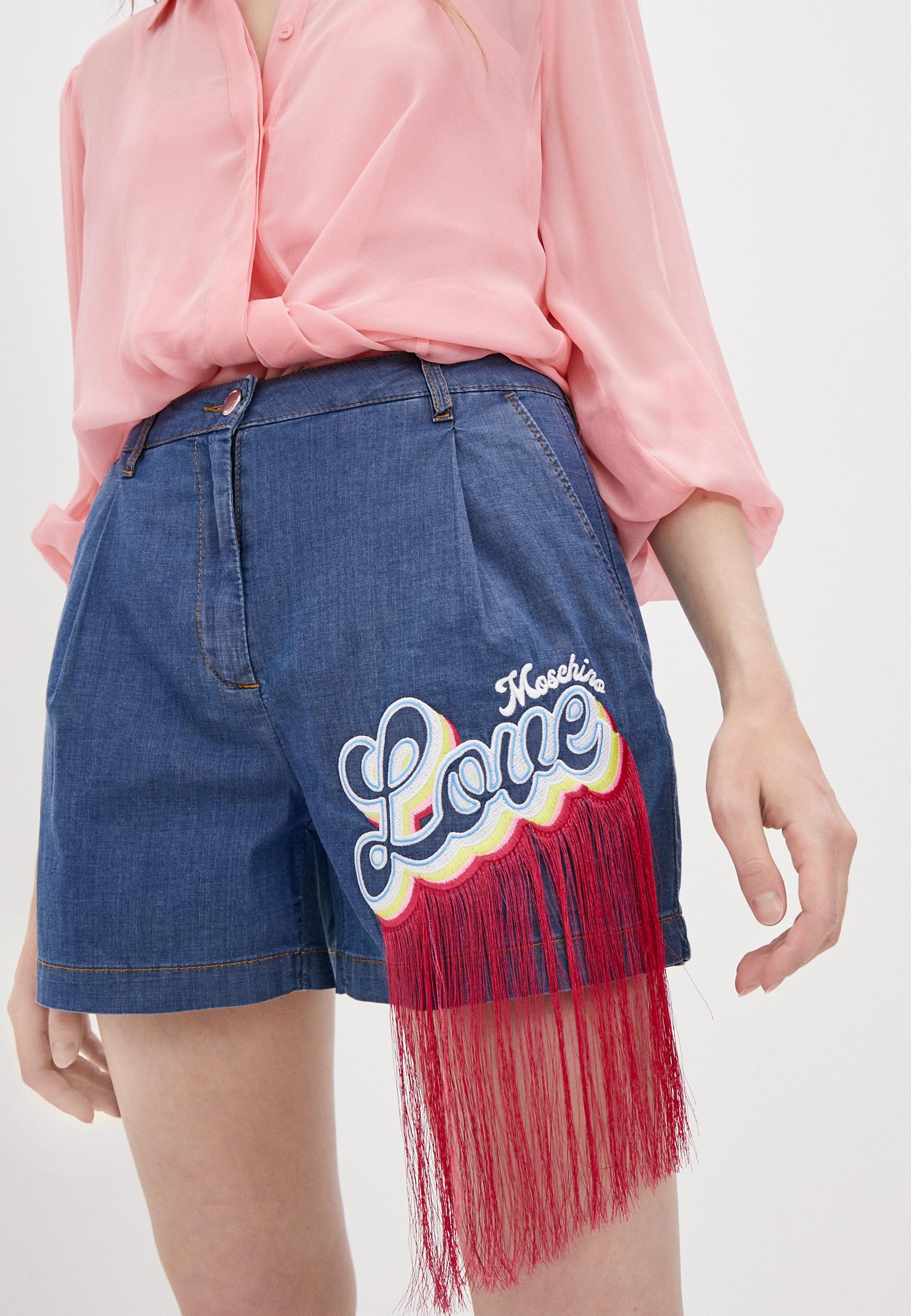 Женские джинсовые шорты Love Moschino Шорты джинсовые Love Moschino