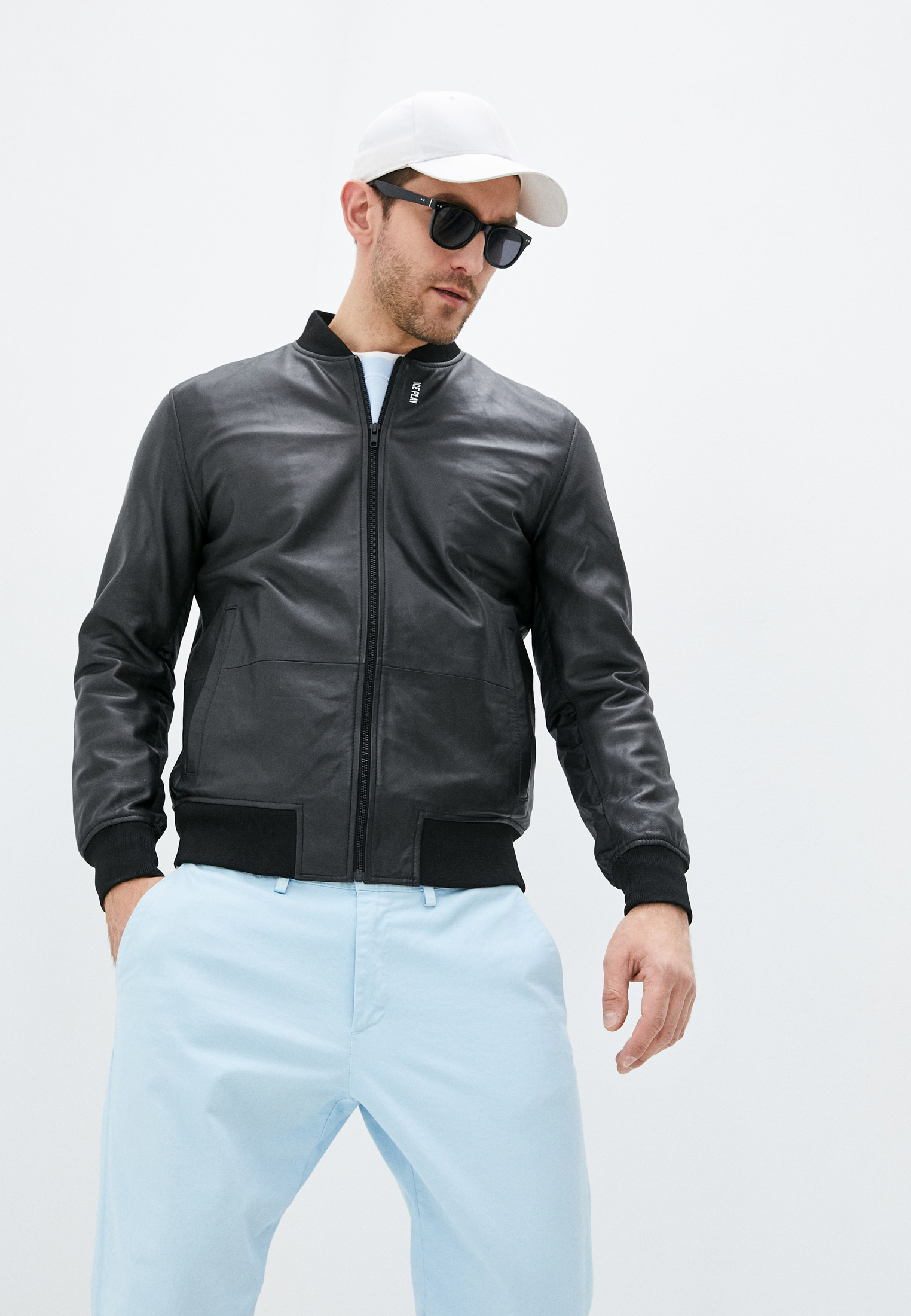 Кожаная куртка Ice Play U1MZO116800