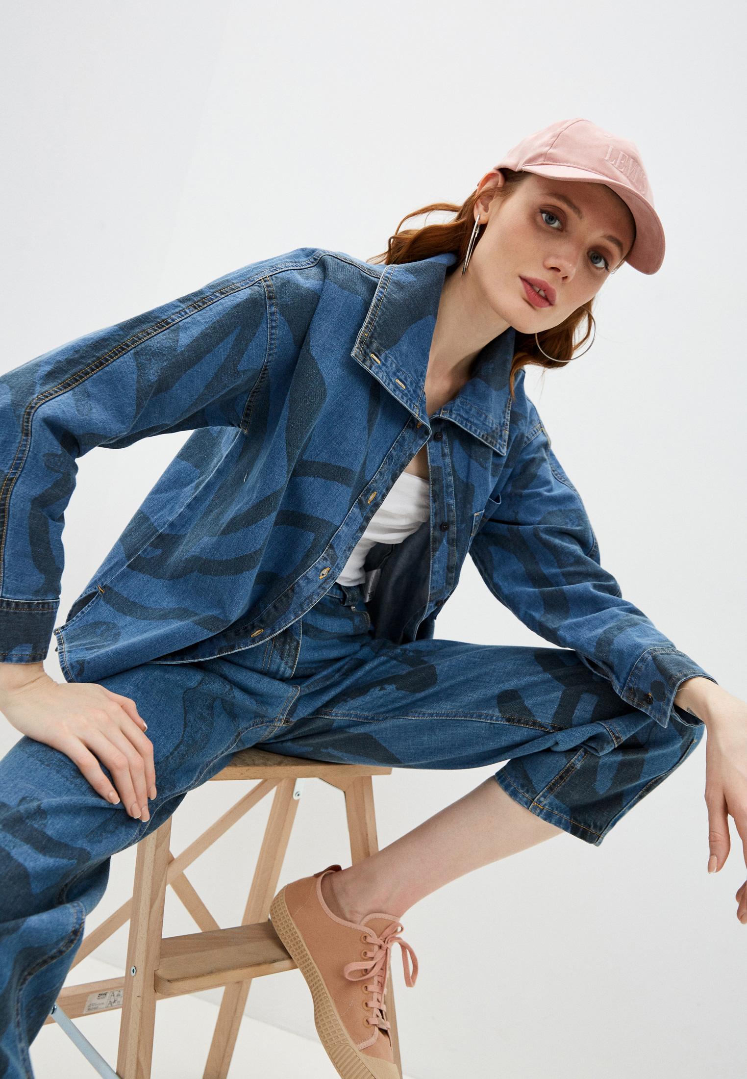 Женские джинсовые рубашки Kenzo (Кензо) Рубашка джинсовая Kenzo