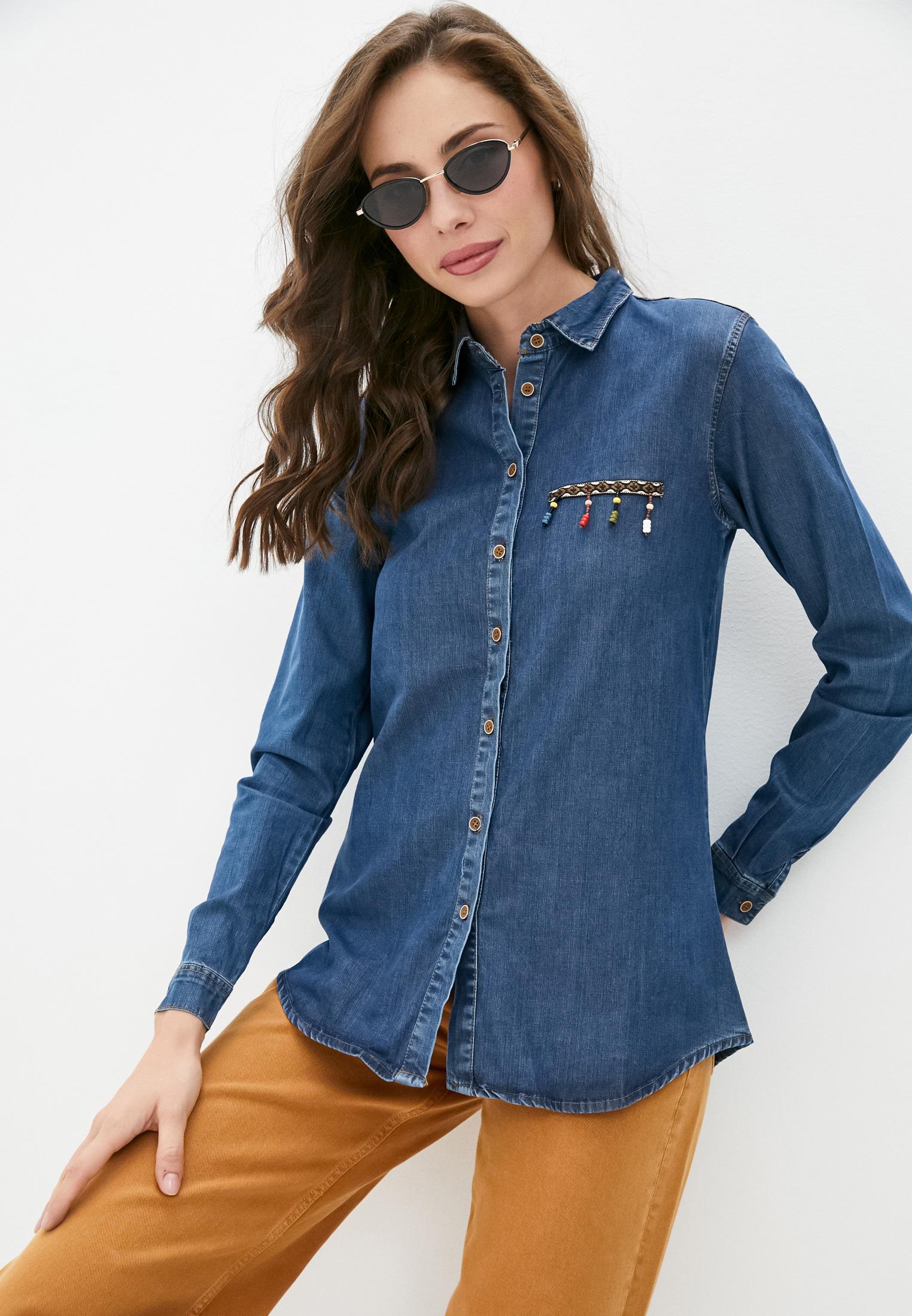 Женские джинсовые рубашки Jimmy Sanders Рубашка джинсовая Jimmy Sanders
