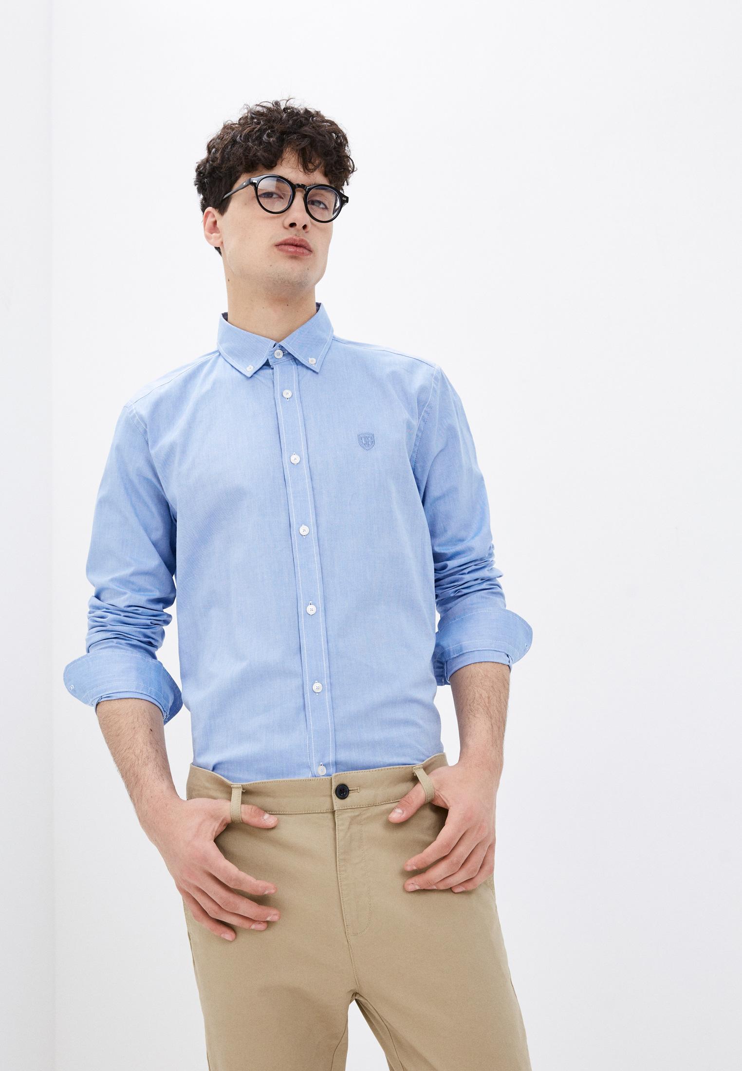 Рубашка с длинным рукавом JIMMY SANDERS (Джимми Сандерс) 20W  SHM3105 DARK BLUE