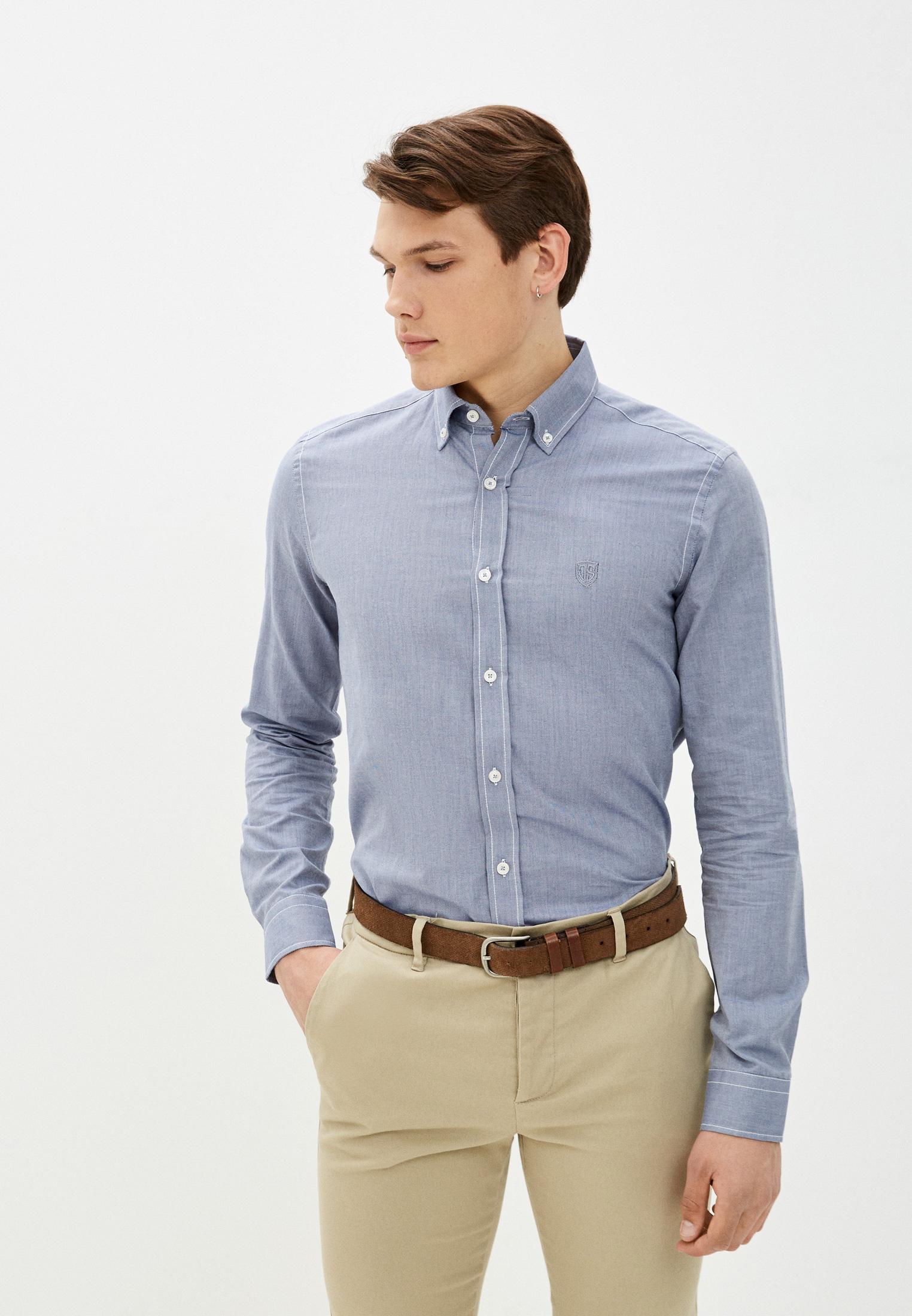 Рубашка с длинным рукавом JIMMY SANDERS (Джимми Сандерс) 20W  SHM3105 NAVY