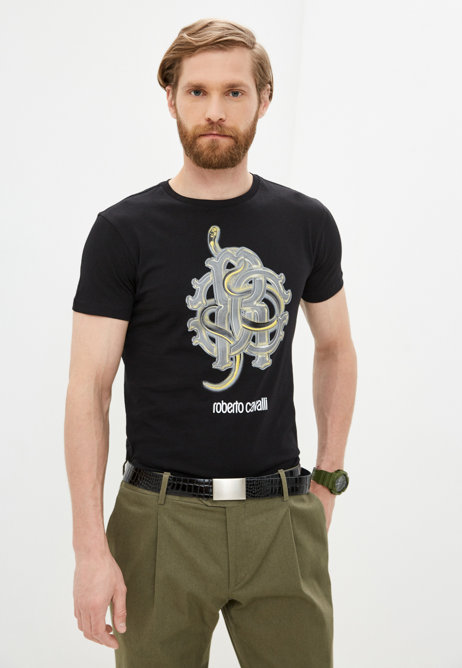 Мужская футболка Roberto Cavalli (Роберто Кавалли) HST60DA270