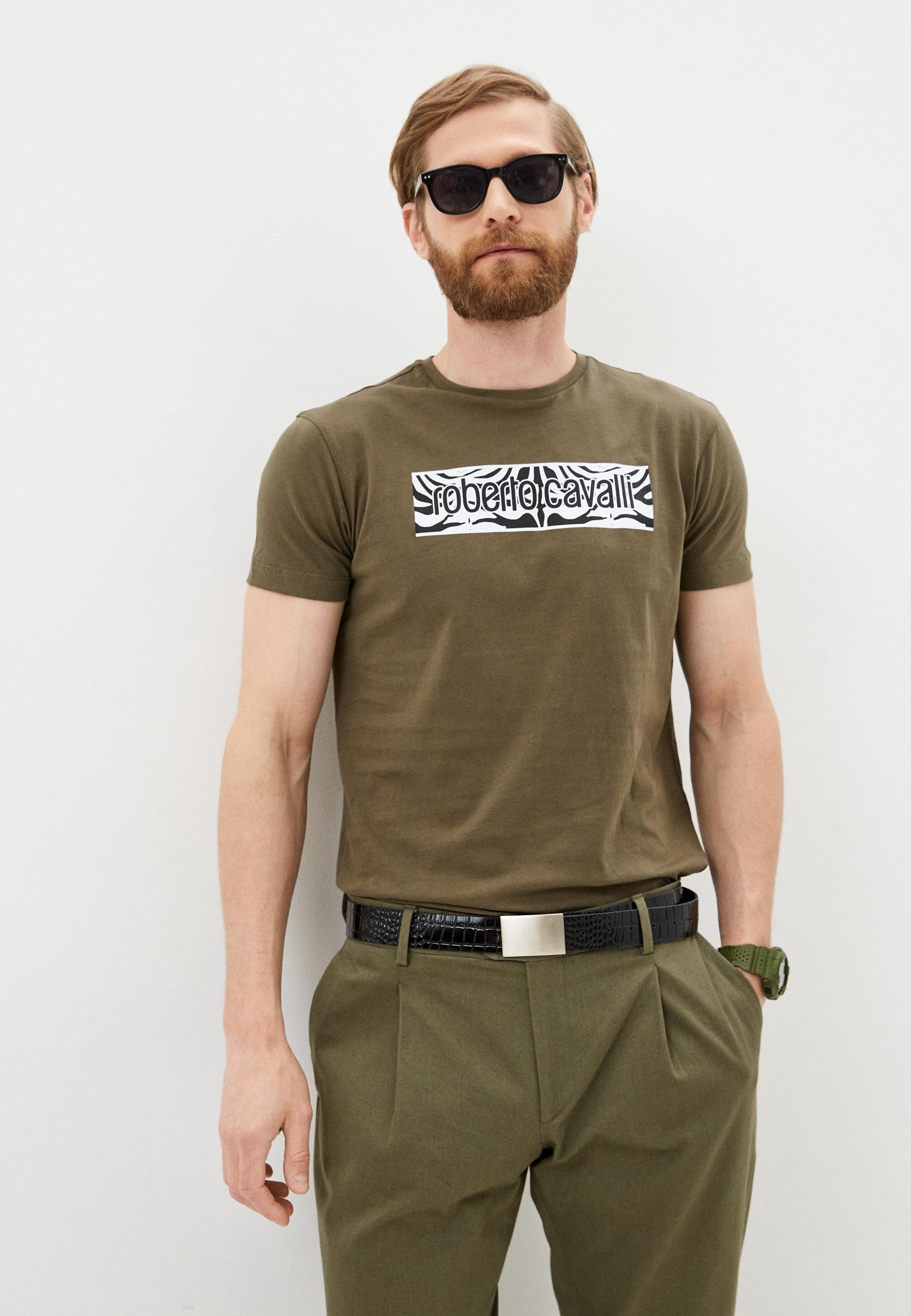 Мужская футболка Roberto Cavalli (Роберто Кавалли) HST60EA270