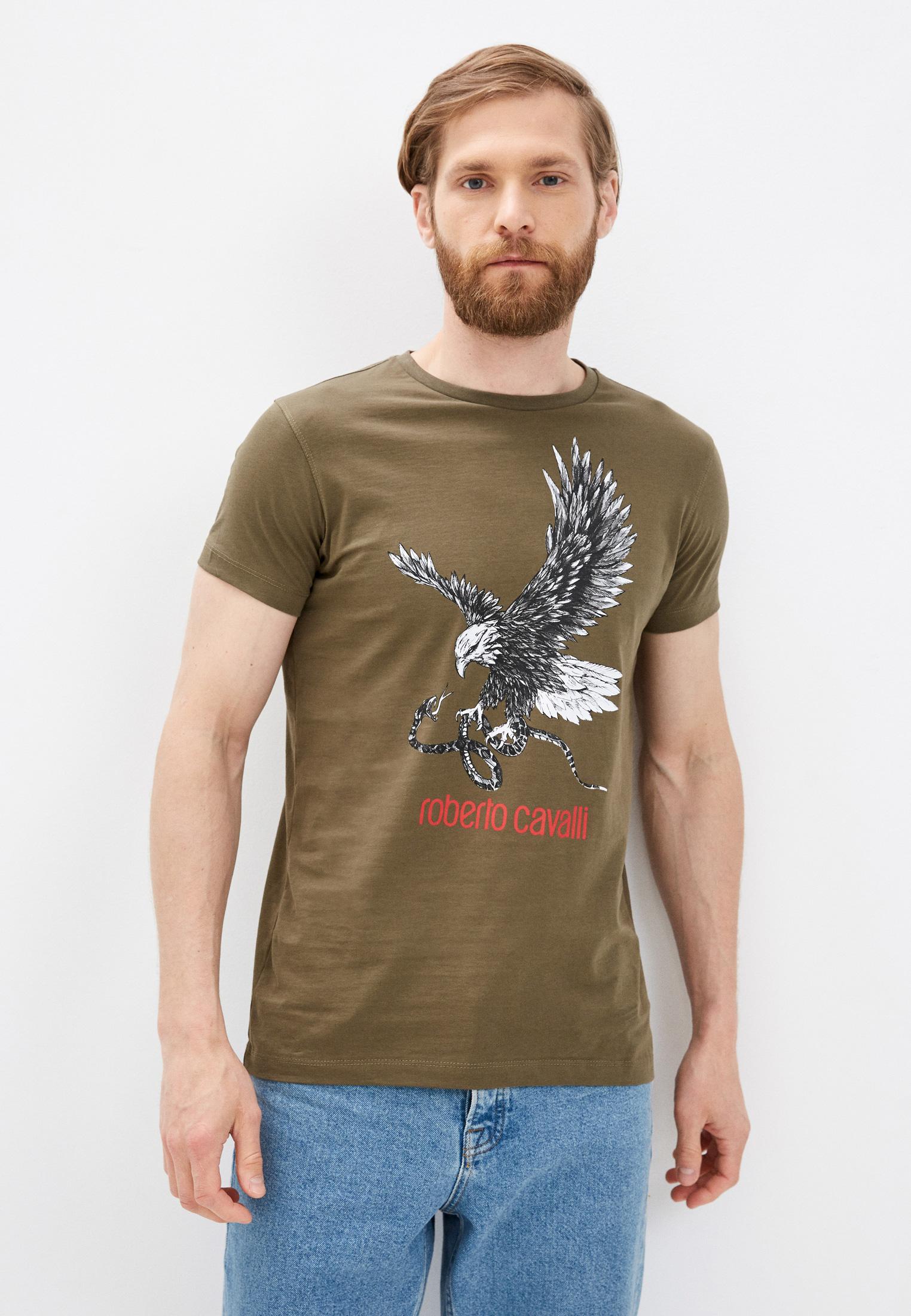 Мужская футболка Roberto Cavalli (Роберто Кавалли) HST65EA270