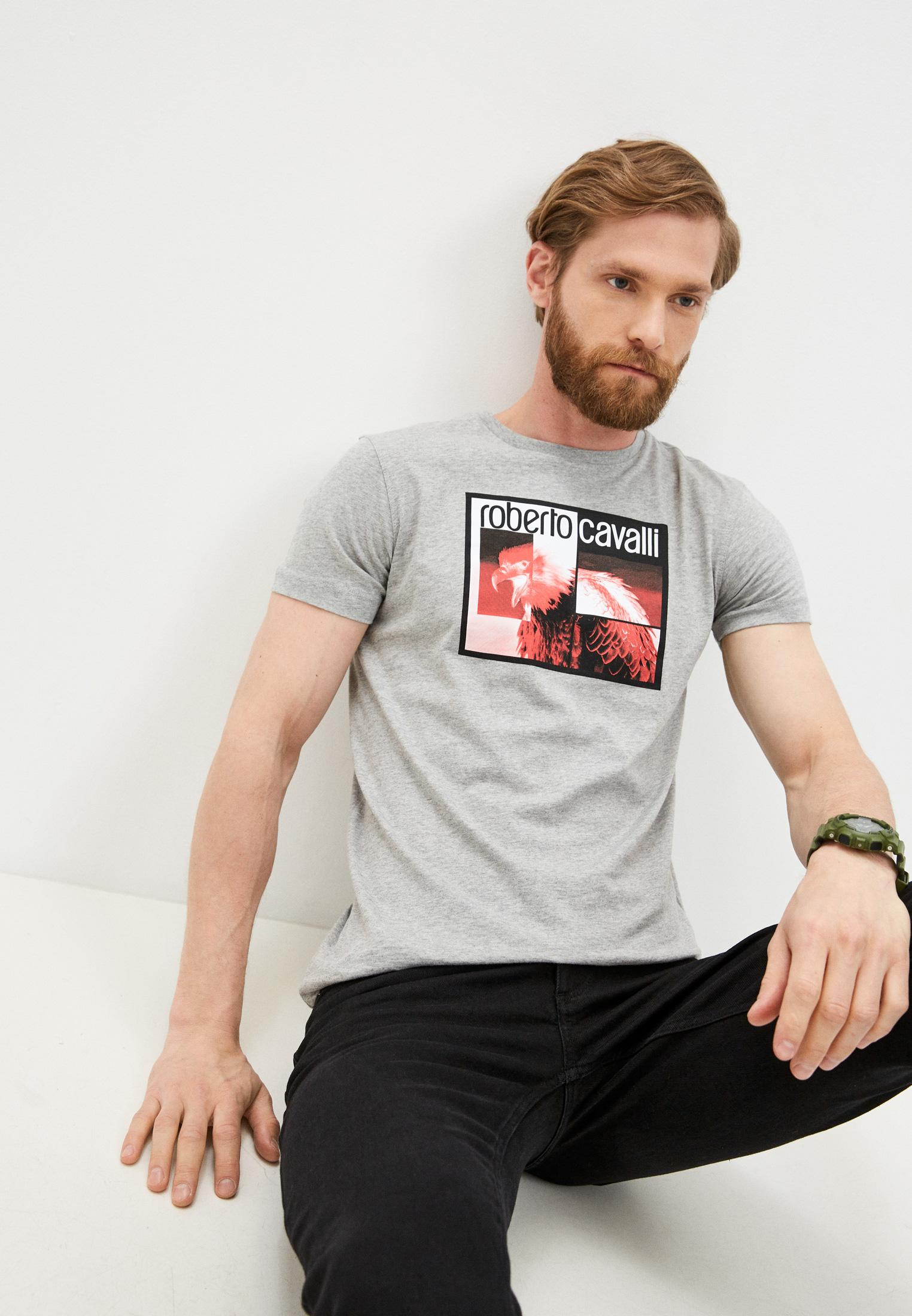 Мужская футболка Roberto Cavalli (Роберто Кавалли) HST68DA270