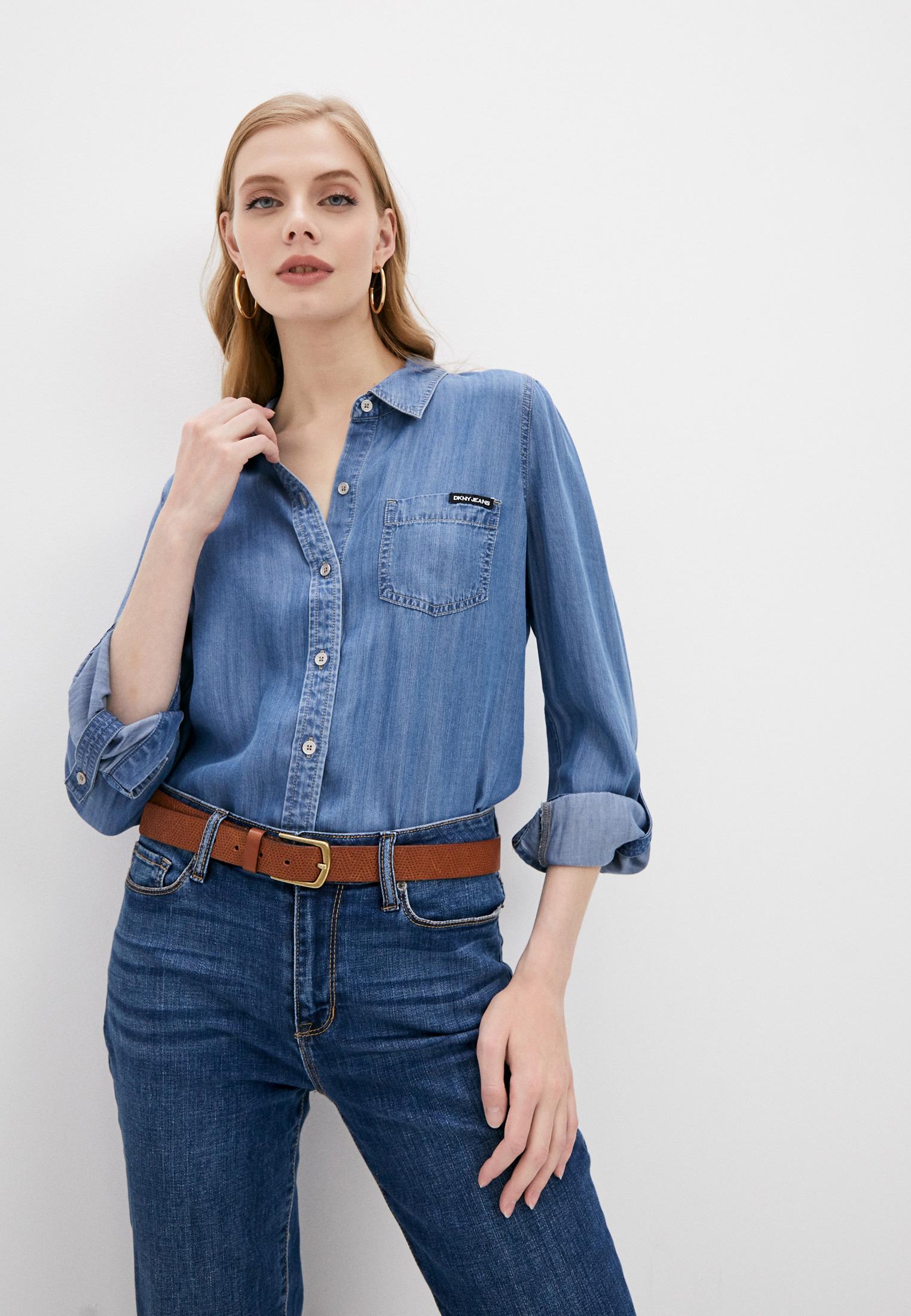 Женские джинсовые рубашки DKNY Рубашка джинсовая DKNY