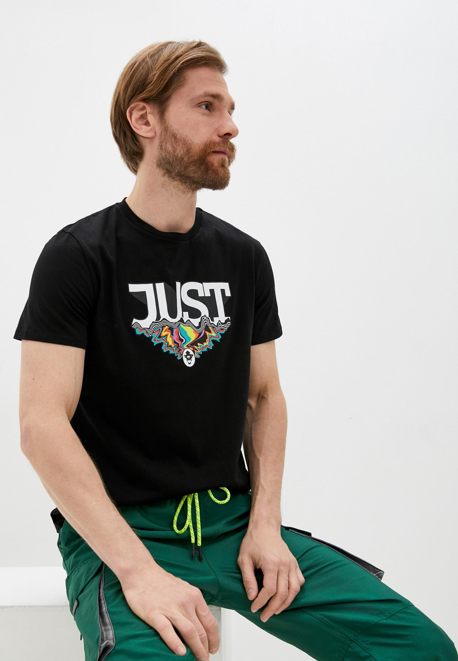 Мужская футболка Just Cavalli (Джаст Кавалли) S01GC0575 N20663