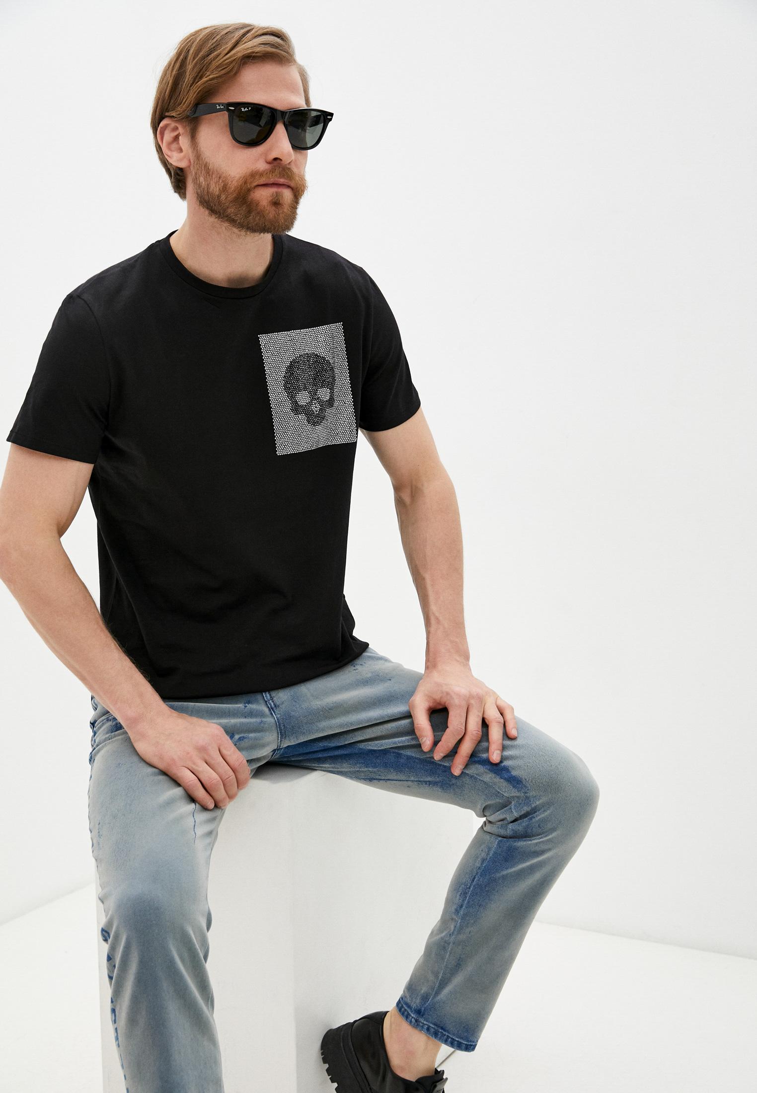 Мужская футболка Just Cavalli (Джаст Кавалли) S03GC0588 N20663