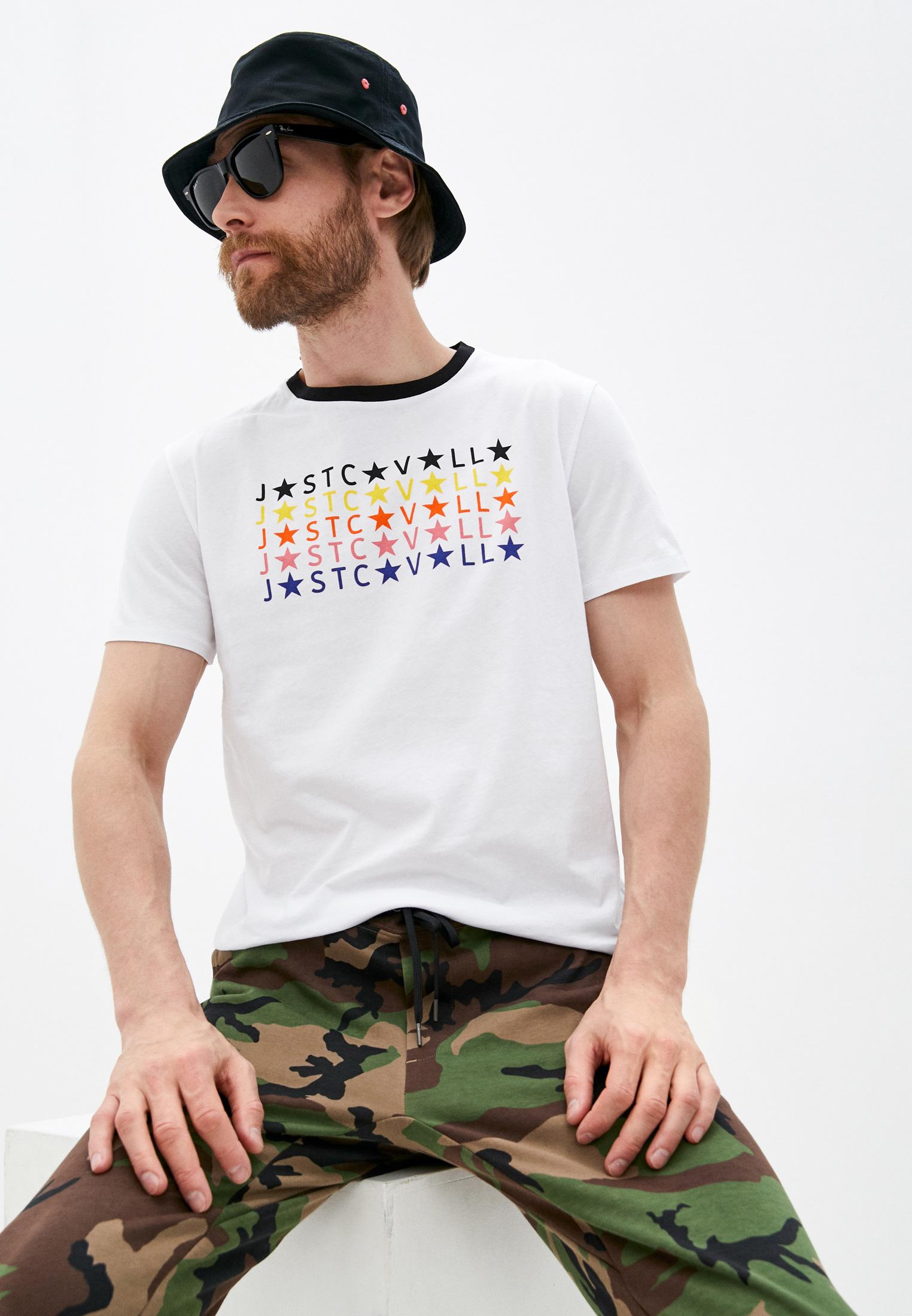 Мужская футболка Just Cavalli (Джаст Кавалли) S03GC0592 N21463