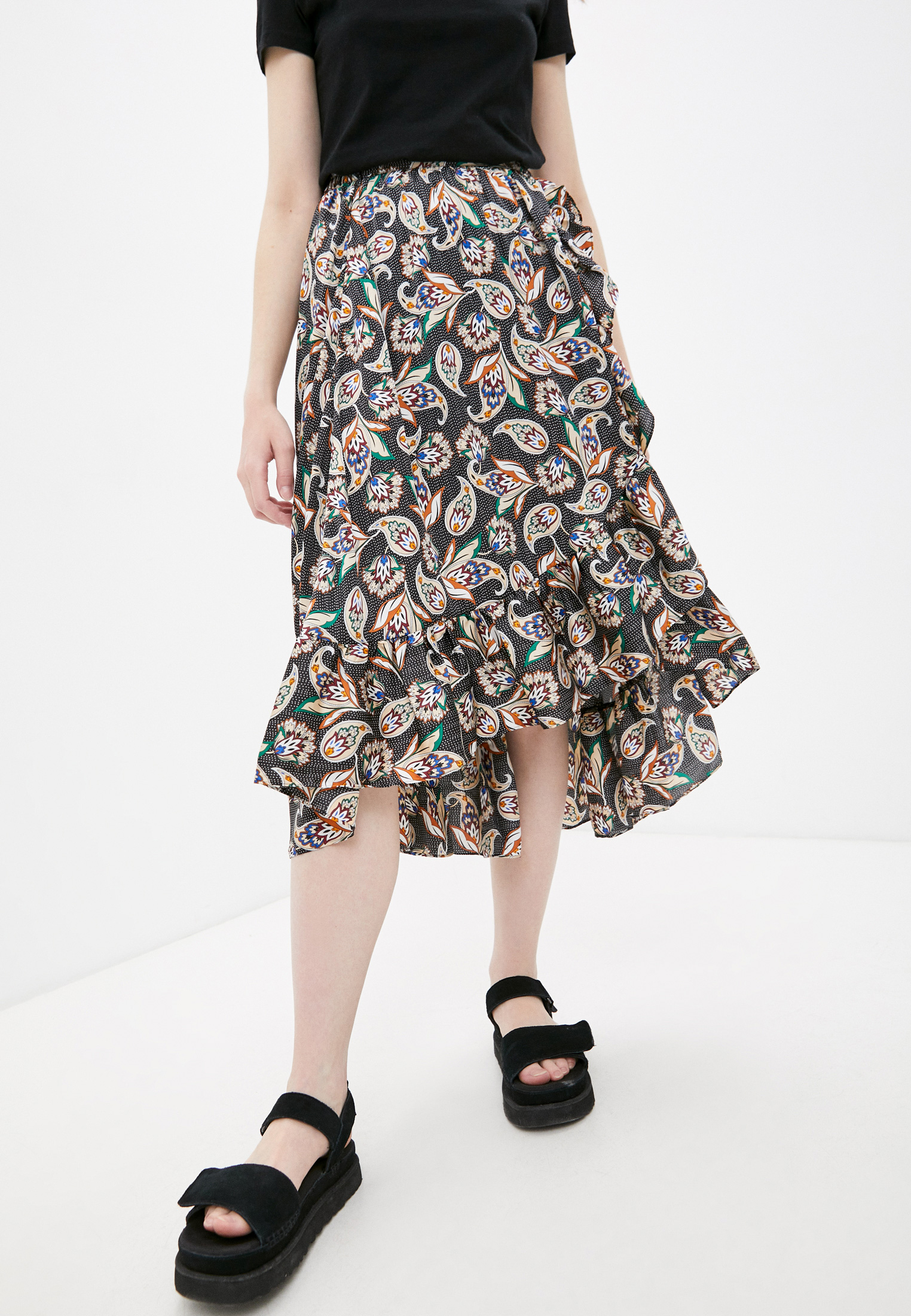 Широкая юбка Maje MFPJU00601