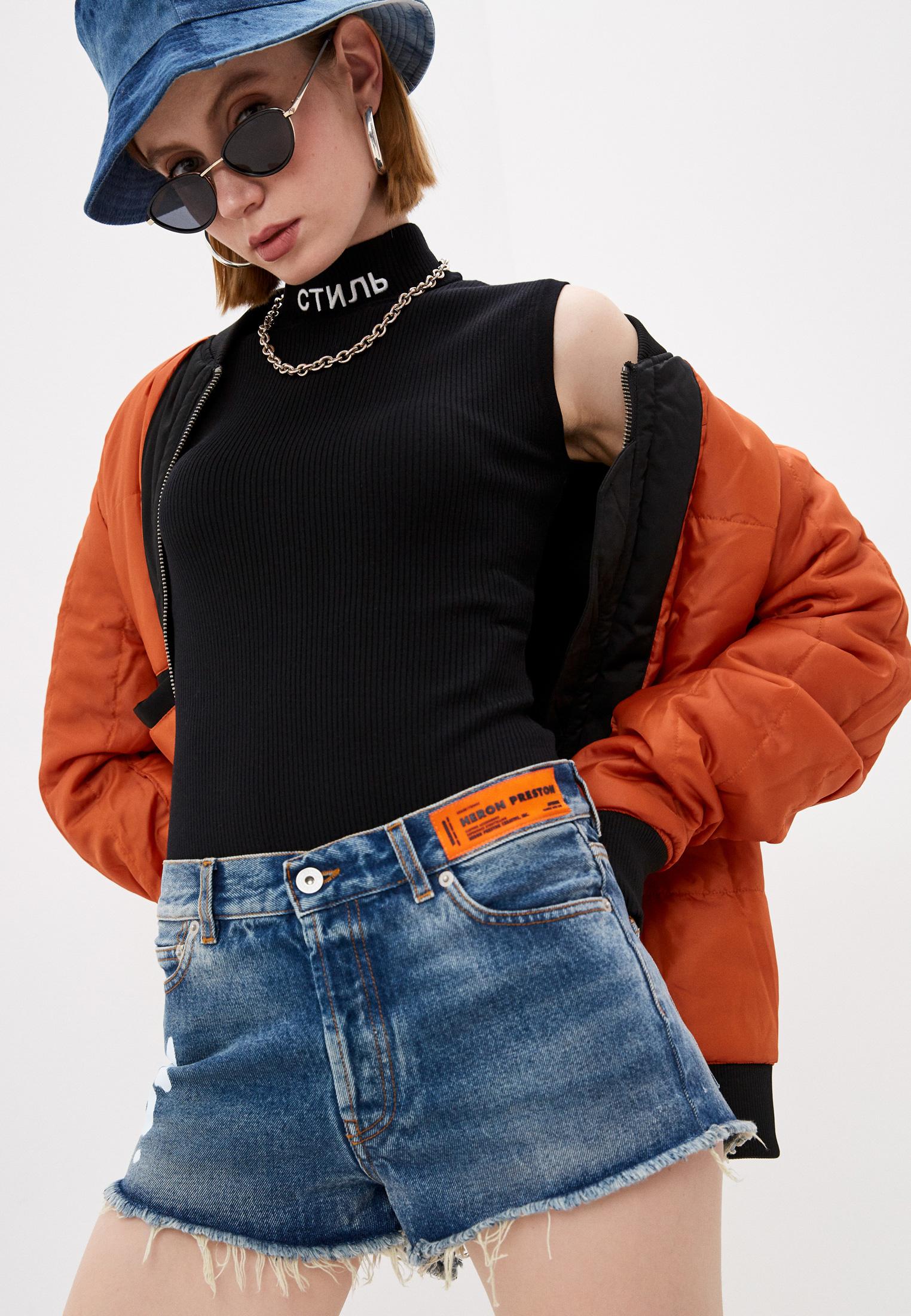 Женские джинсовые шорты HERON PRESTON Шорты джинсовые Heron Preston