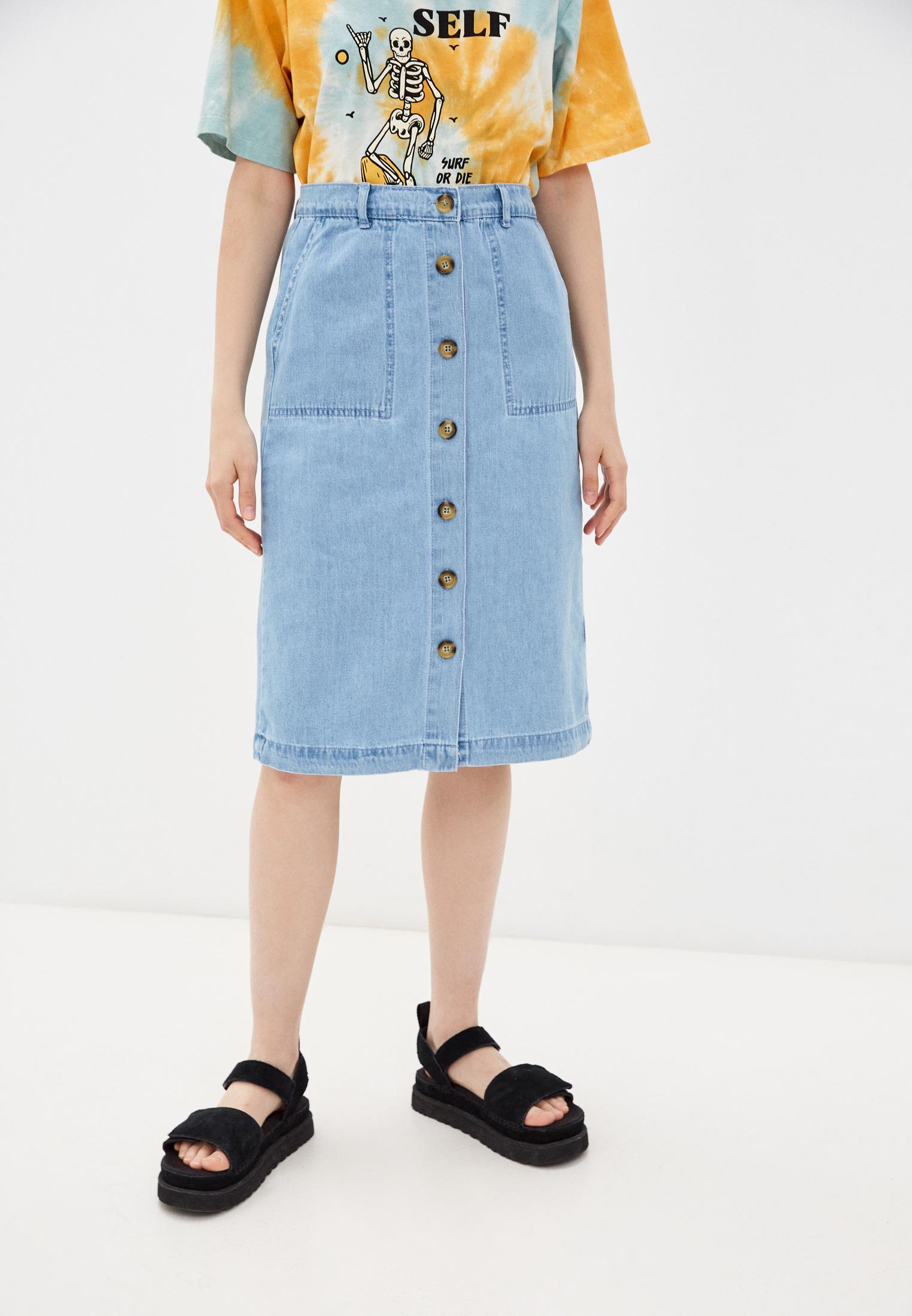Джинсовая юбка Trendyol TWOSS21ET0491