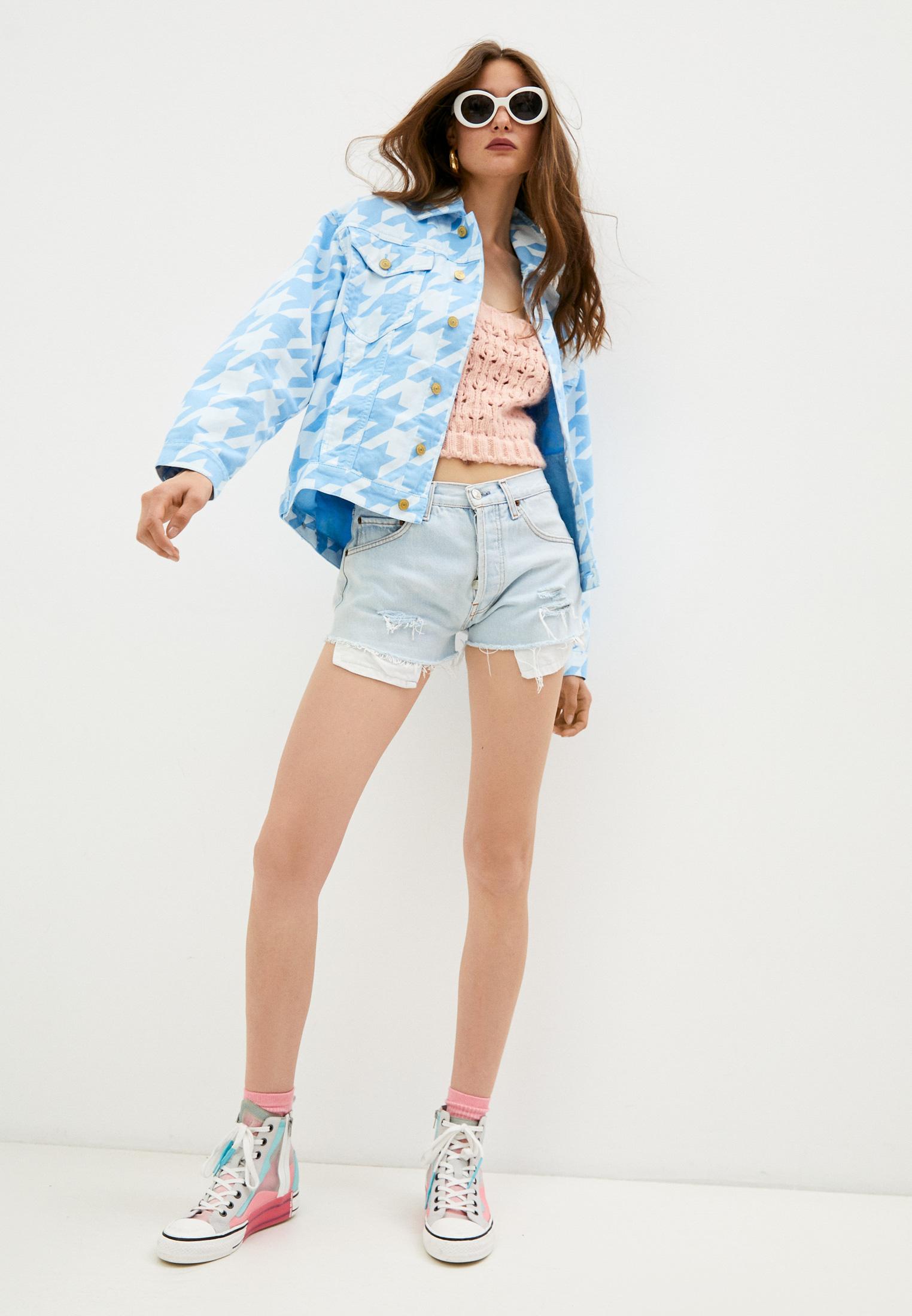 Женские джинсовые шорты Chiara Ferragni Collection 18PE-CFS013: изображение 3