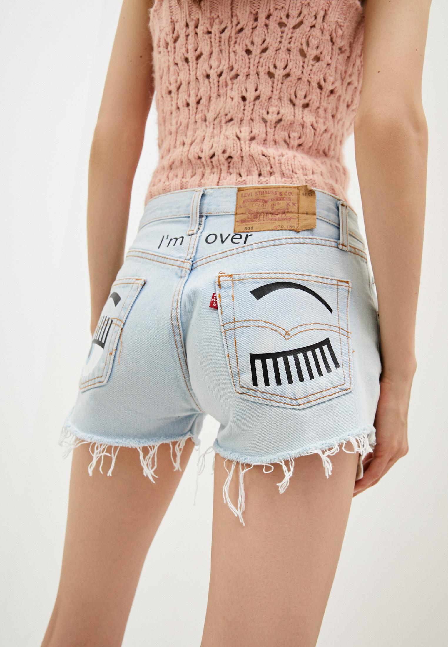 Женские джинсовые шорты Chiara Ferragni Collection 18PE-CFS013: изображение 4