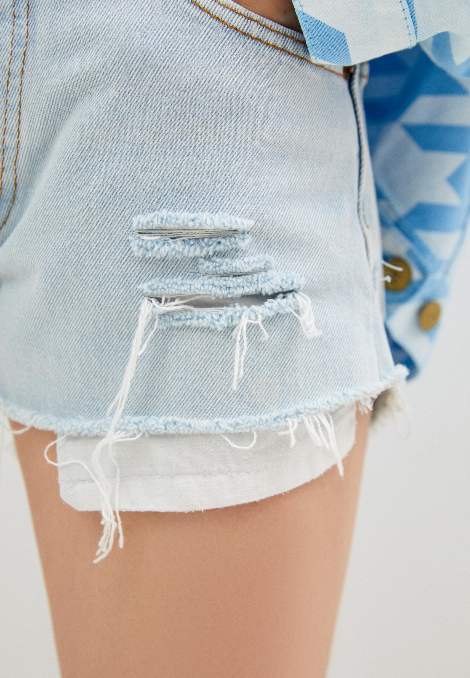 Женские джинсовые шорты Chiara Ferragni Collection 18PE-CFS013: изображение 5