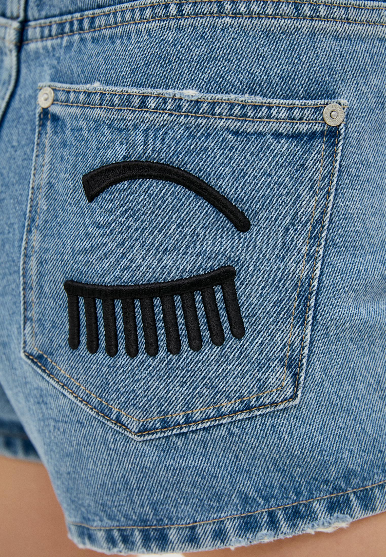 Женские джинсовые шорты Chiara Ferragni Collection 19PE-CFS014: изображение 5