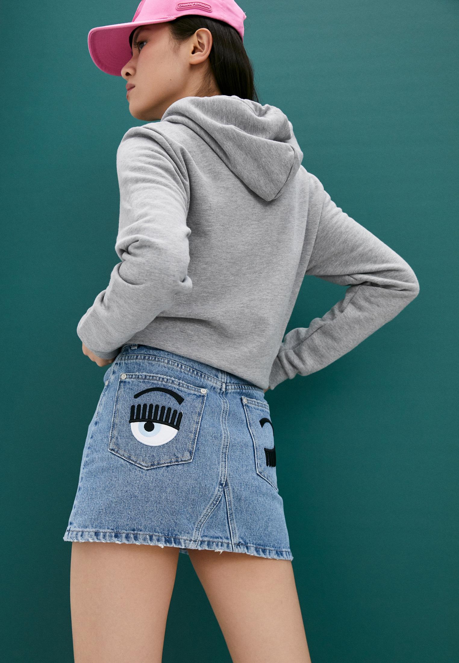 Джинсовая юбка Chiara Ferragni Collection 19PE-CFST001: изображение 2
