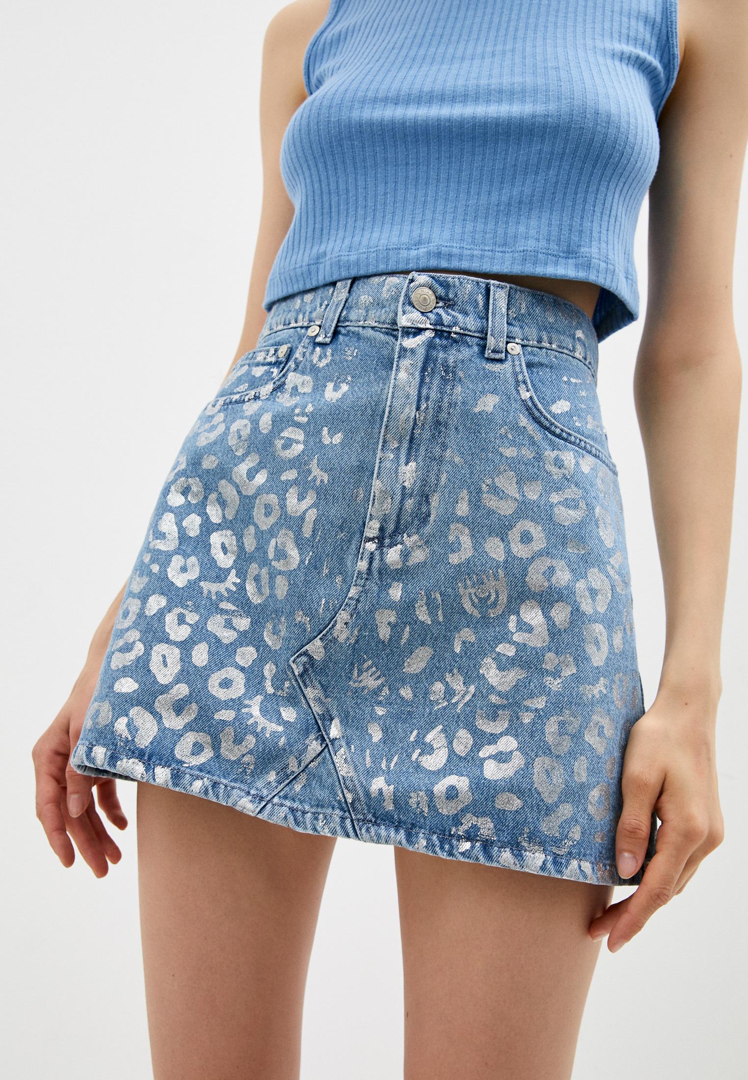 Джинсовая юбка Chiara Ferragni Collection 20PE-CFST031