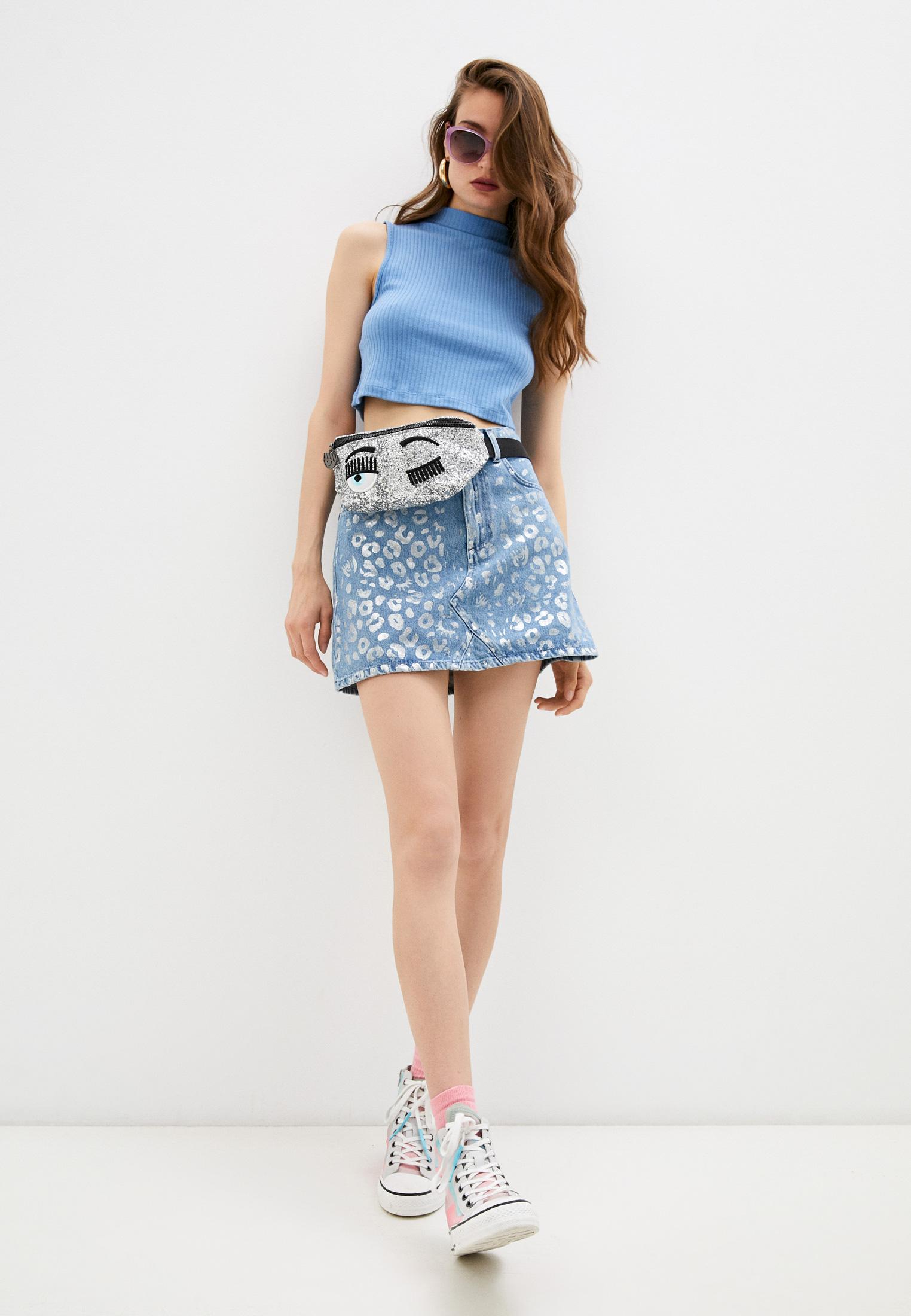 Джинсовая юбка Chiara Ferragni Collection 20PE-CFST031: изображение 3