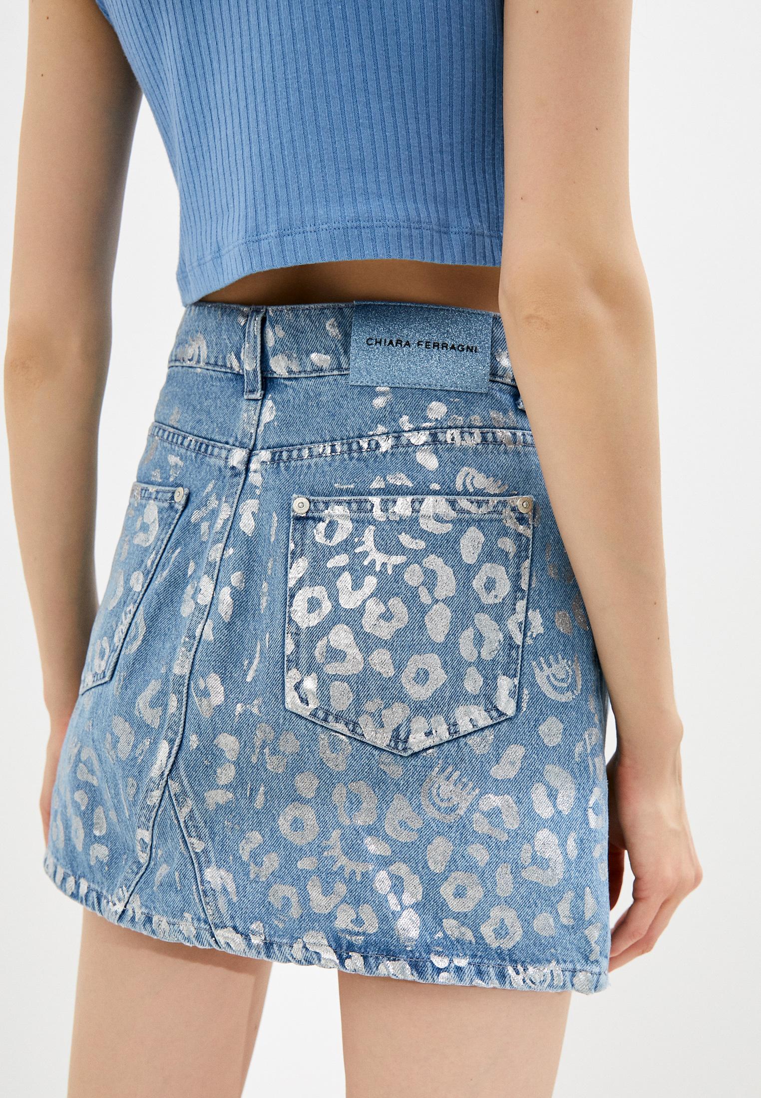 Джинсовая юбка Chiara Ferragni Collection 20PE-CFST031: изображение 4