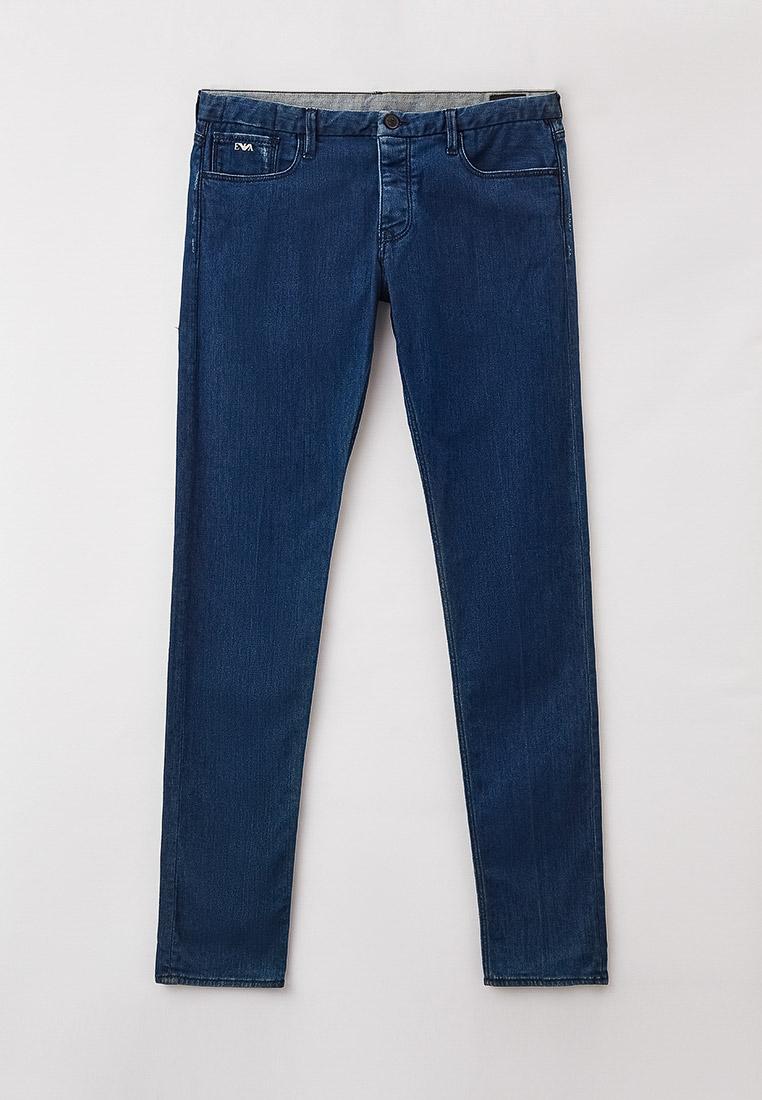 Мужские зауженные джинсы Emporio Armani (Эмпорио Армани) 3Z1J00 1D82Z