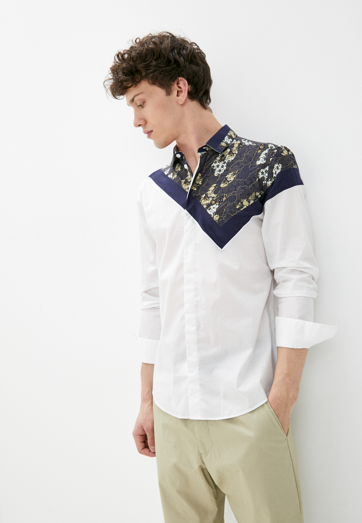 Рубашка с длинным рукавом Emporio Armani (Эмпорио Армани) W1CC2T W134C