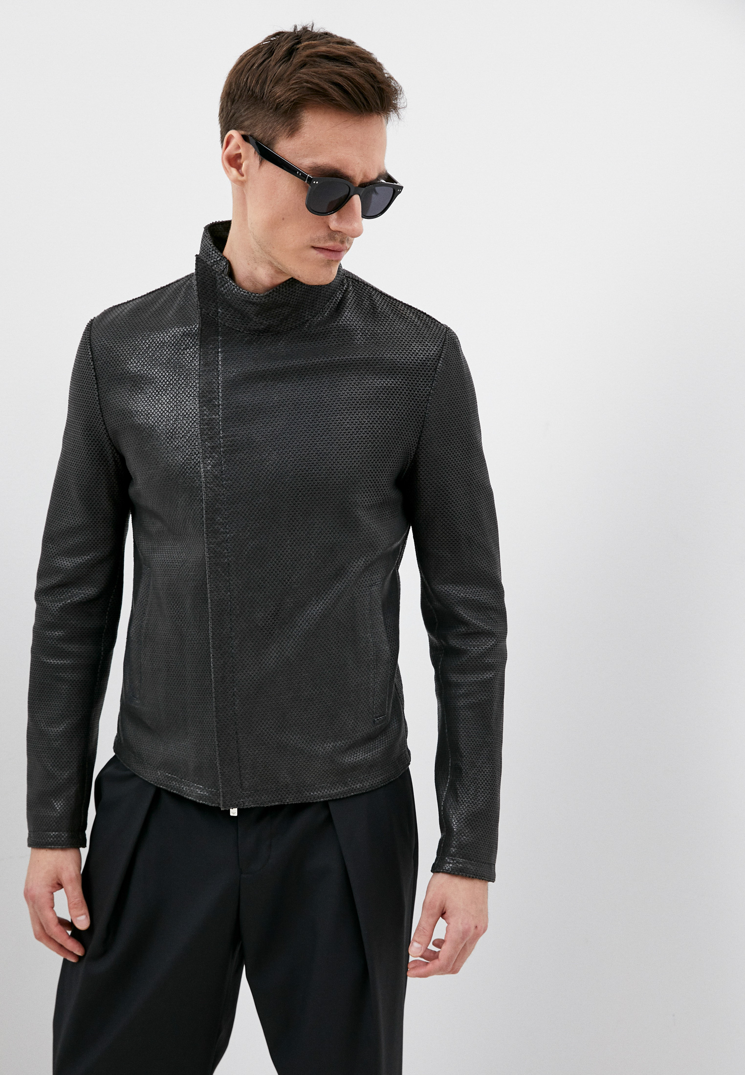 Кожаная куртка Emporio Armani (Эмпорио Армани) W1P27