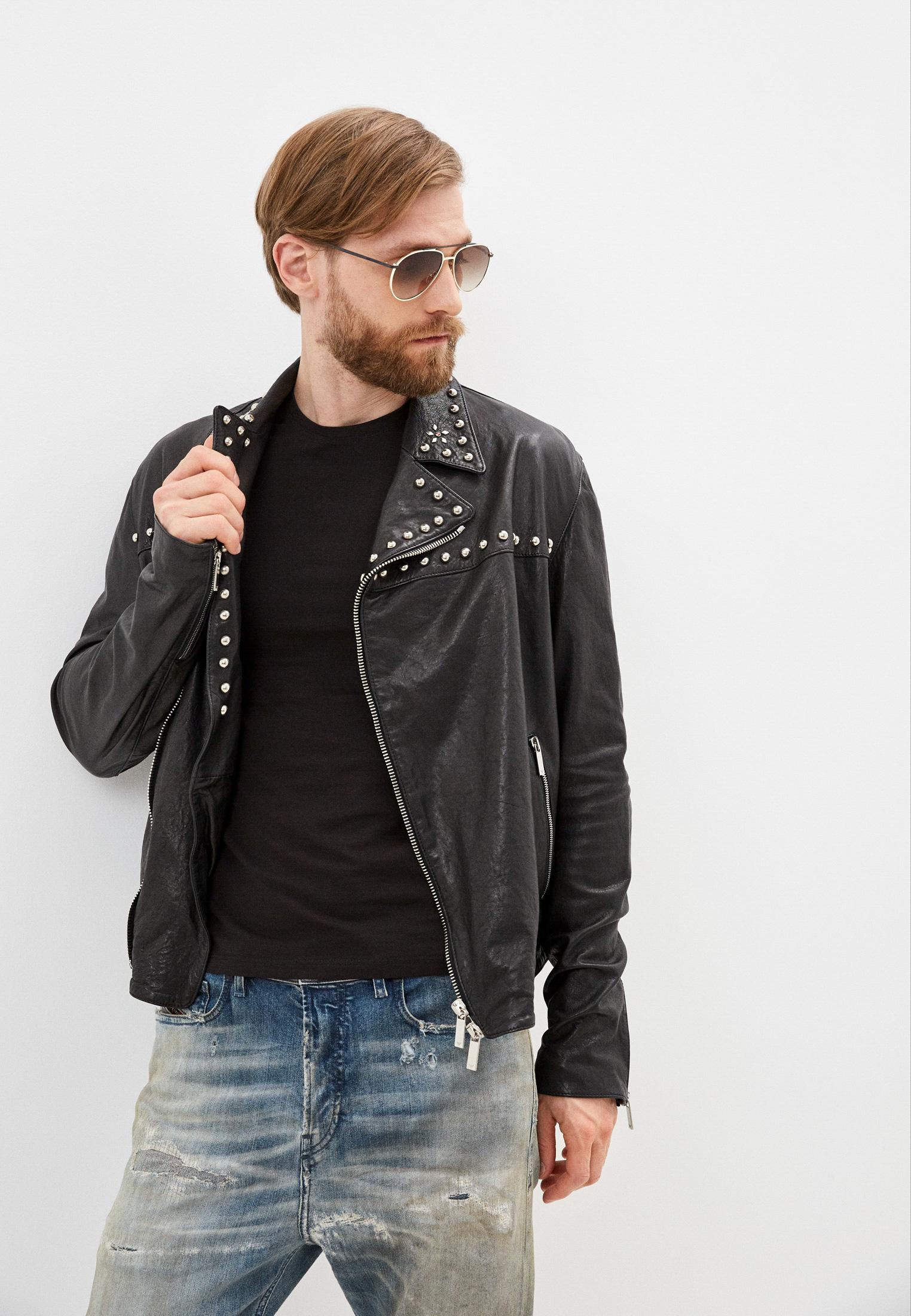 Кожаная куртка Emporio Armani Куртка кожаная Emporio Armani