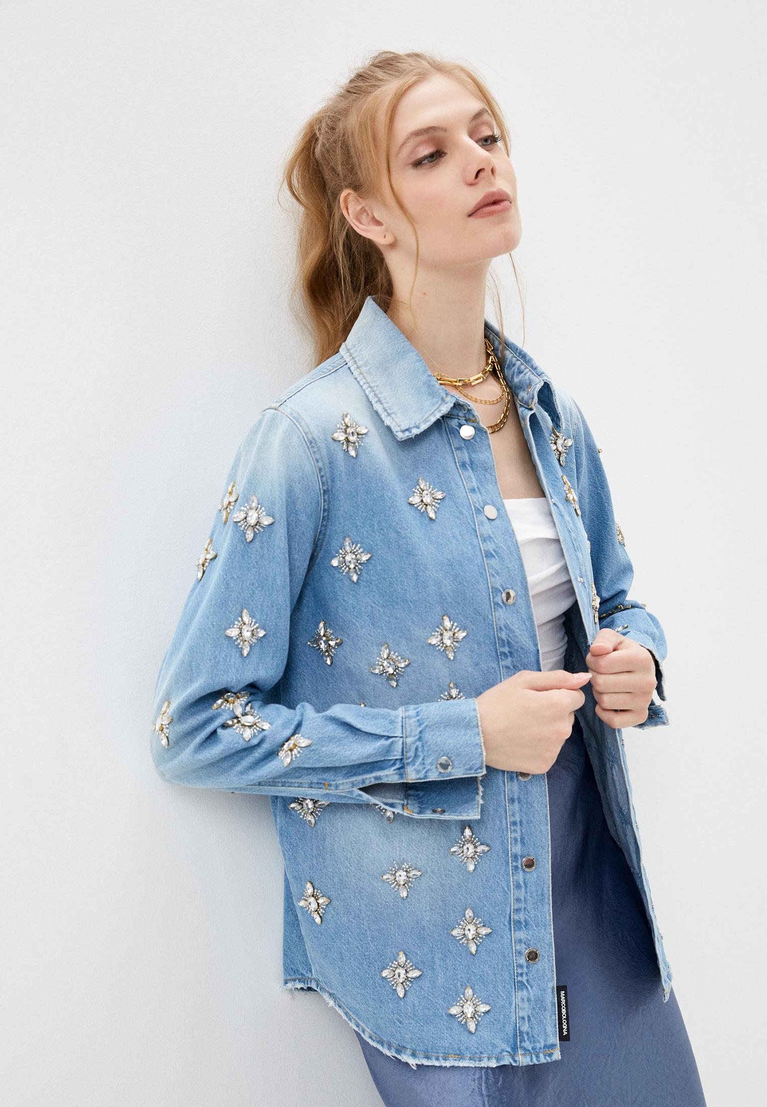 Женские джинсовые рубашки Marco Bologna Рубашка джинсовая Marco Bologna