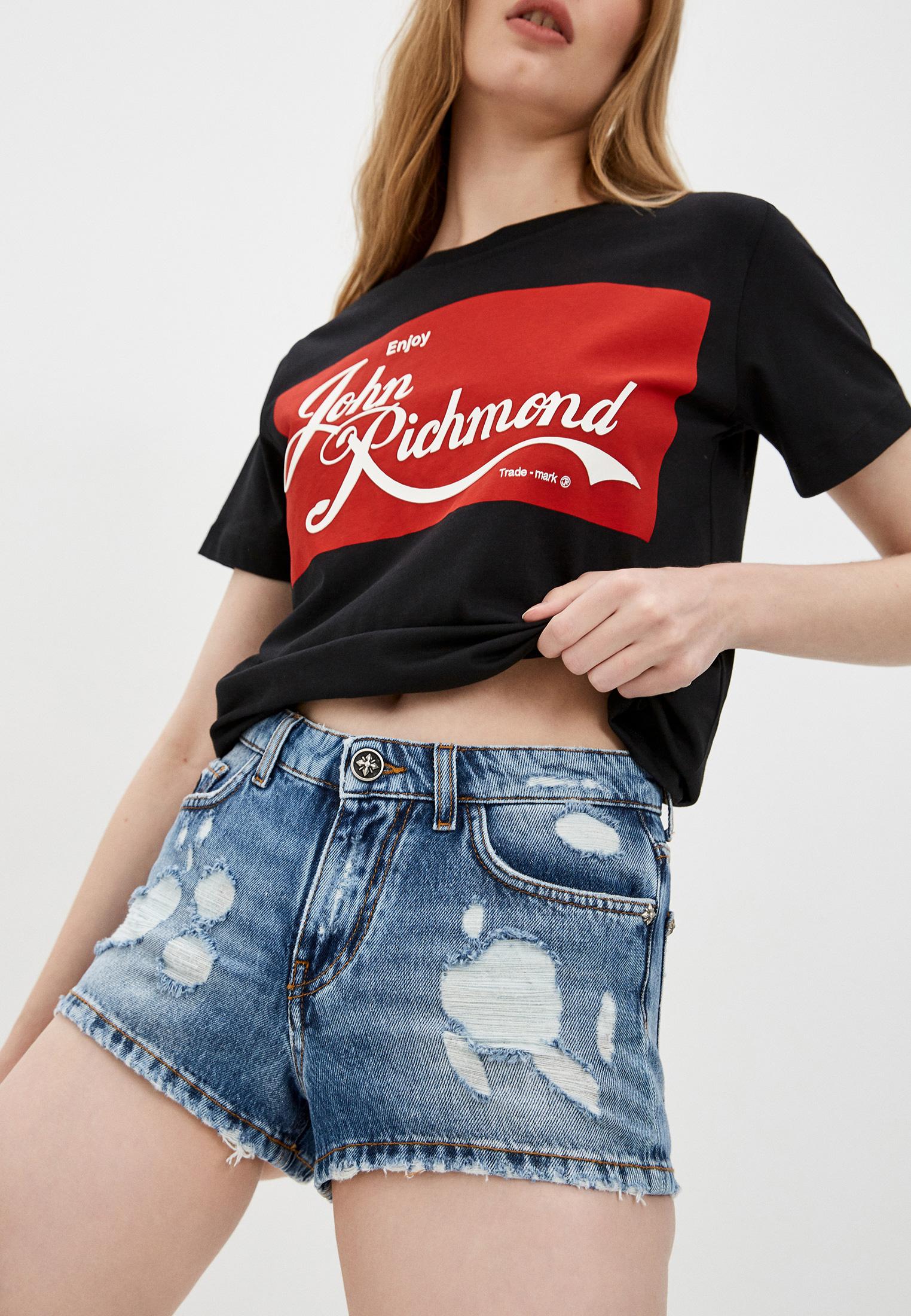 Женские джинсовые шорты John Richmond (Джон Ричмонд) RWP21199SH