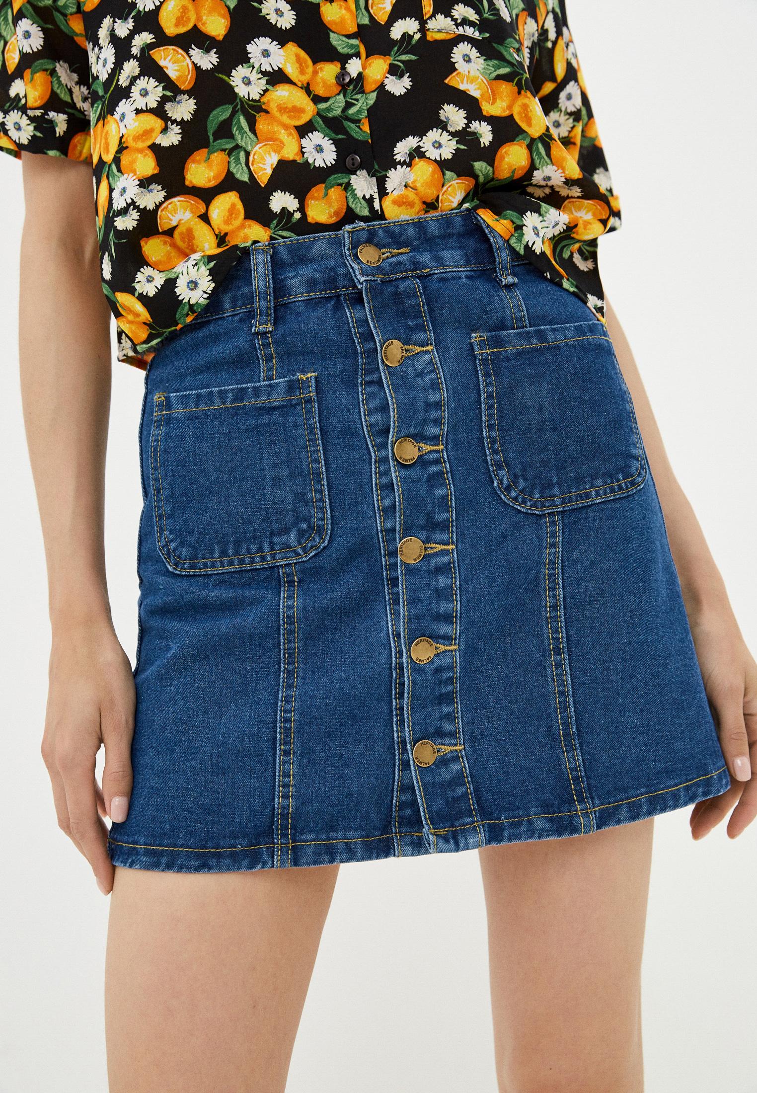 Джинсовая юбка Moki Юбка джинсовая Moki