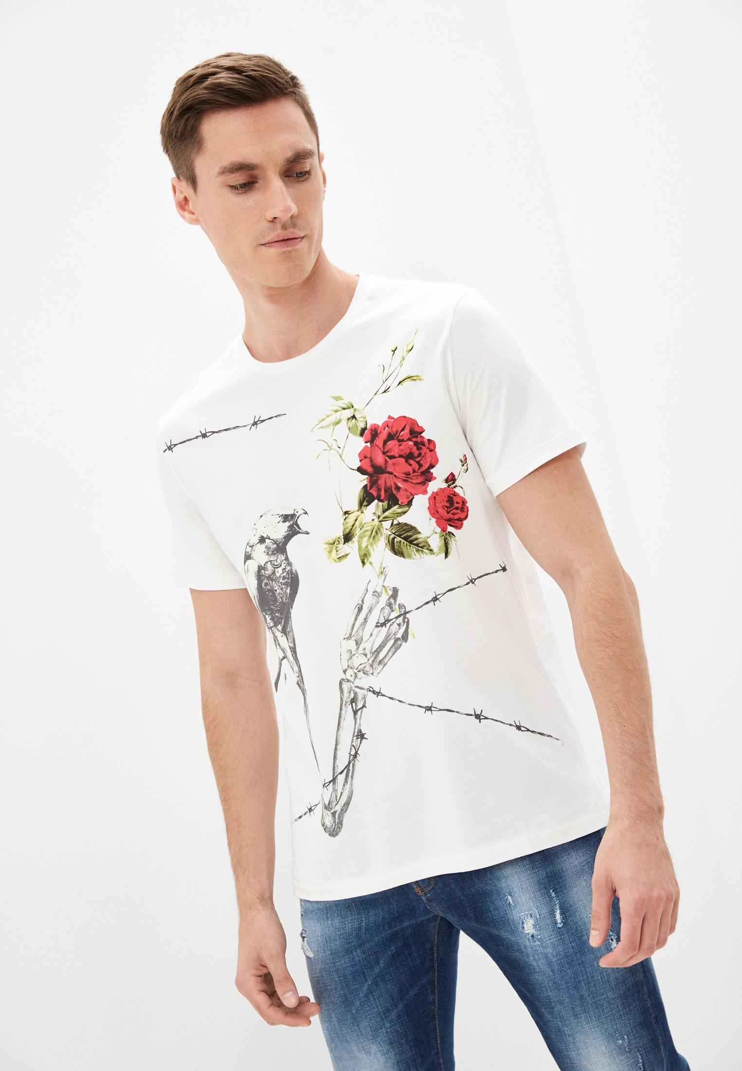 Мужская футболка Just Cavalli (Джаст Кавалли) S01GC0432N20663101