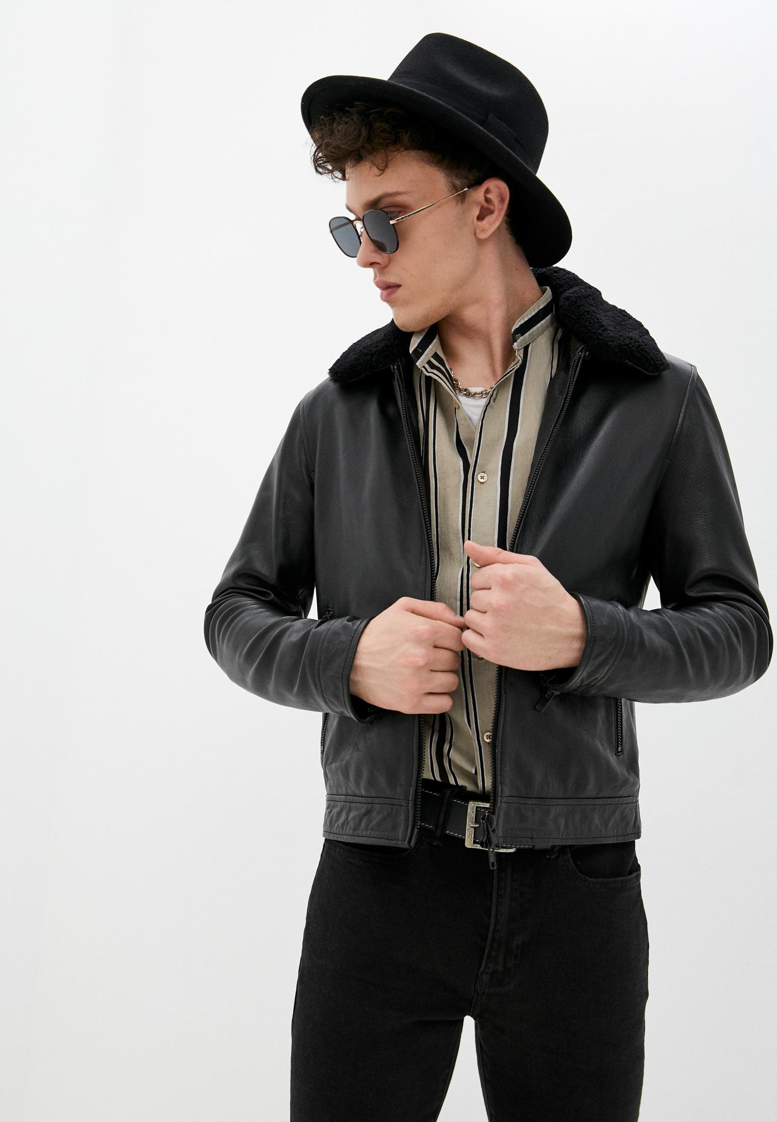 Кожаная куртка Serge Pariente RANDOM SHEARLING COLLAR