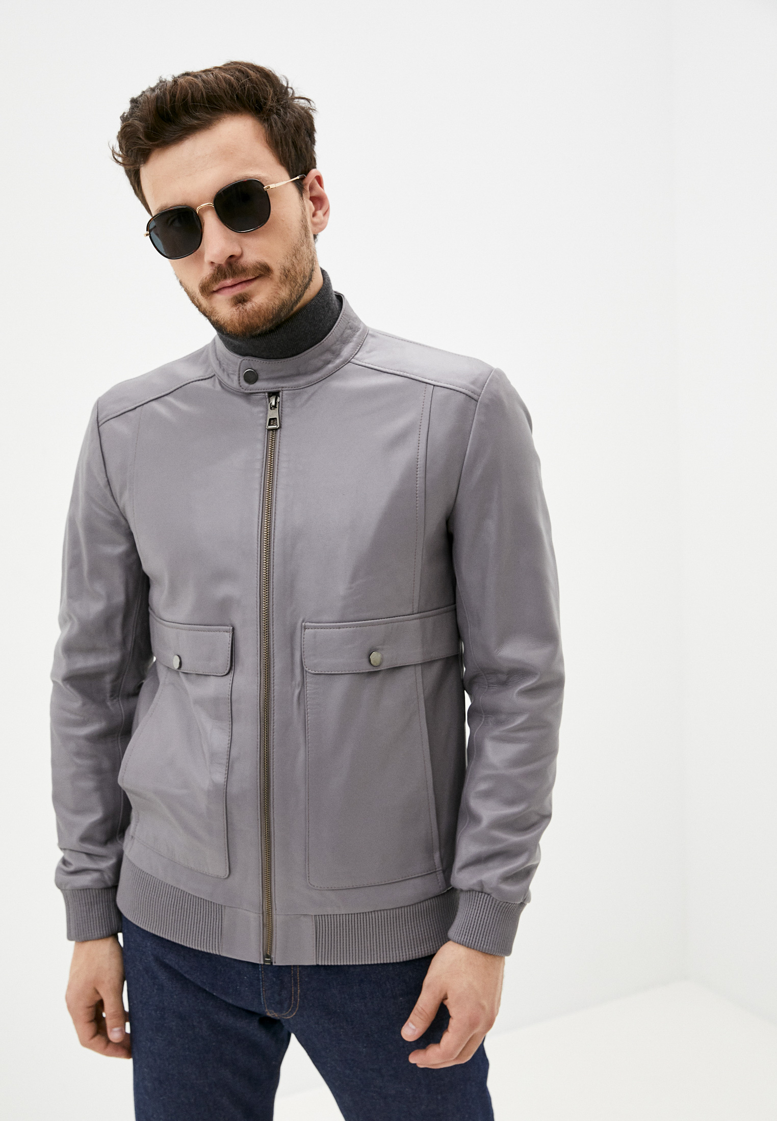 Кожаная куртка GIORGIO DI MARE Куртка кожаная Giorgio Di Mare