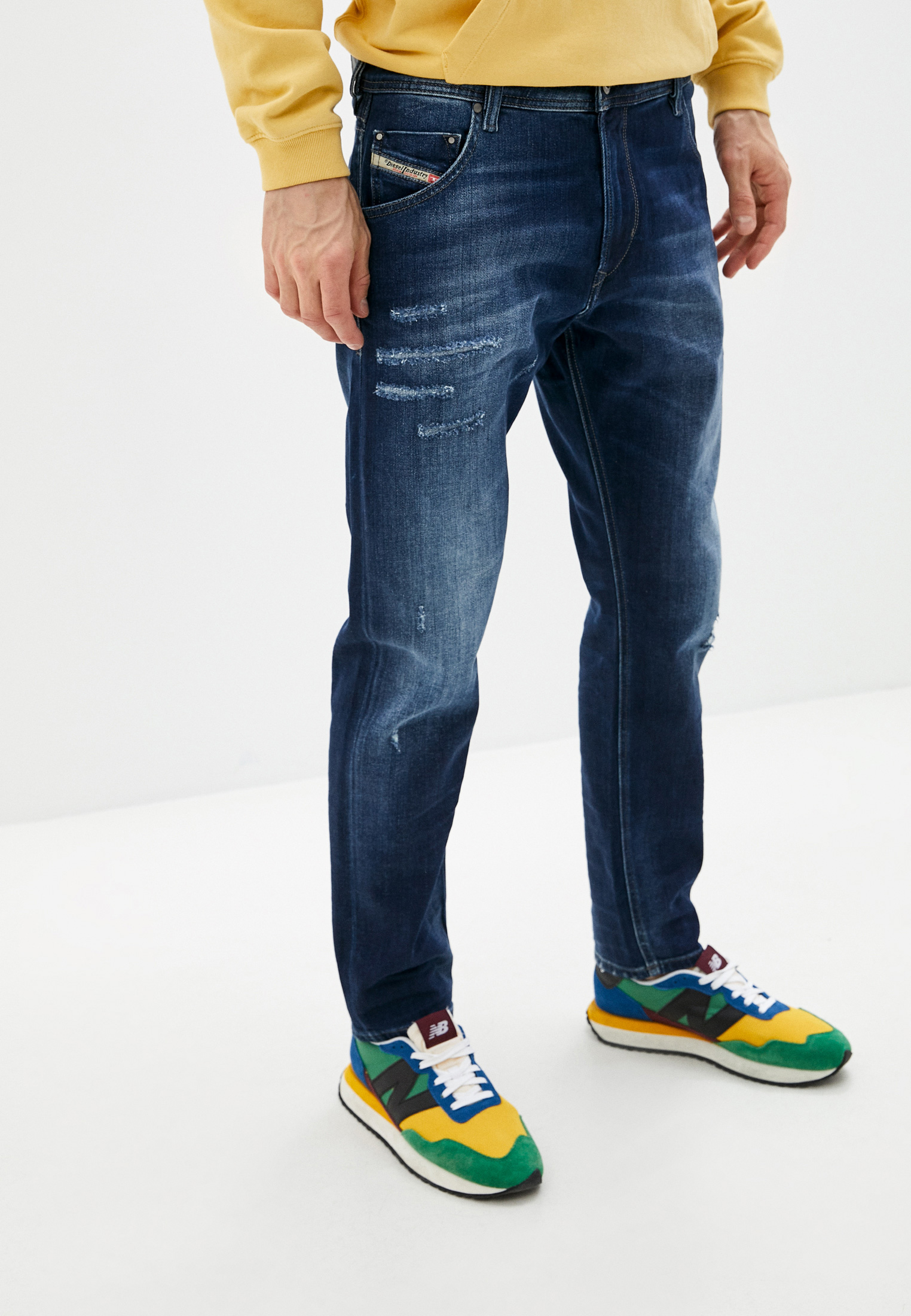 Мужские зауженные джинсы Diesel (Дизель) 00S5A3R8FG4