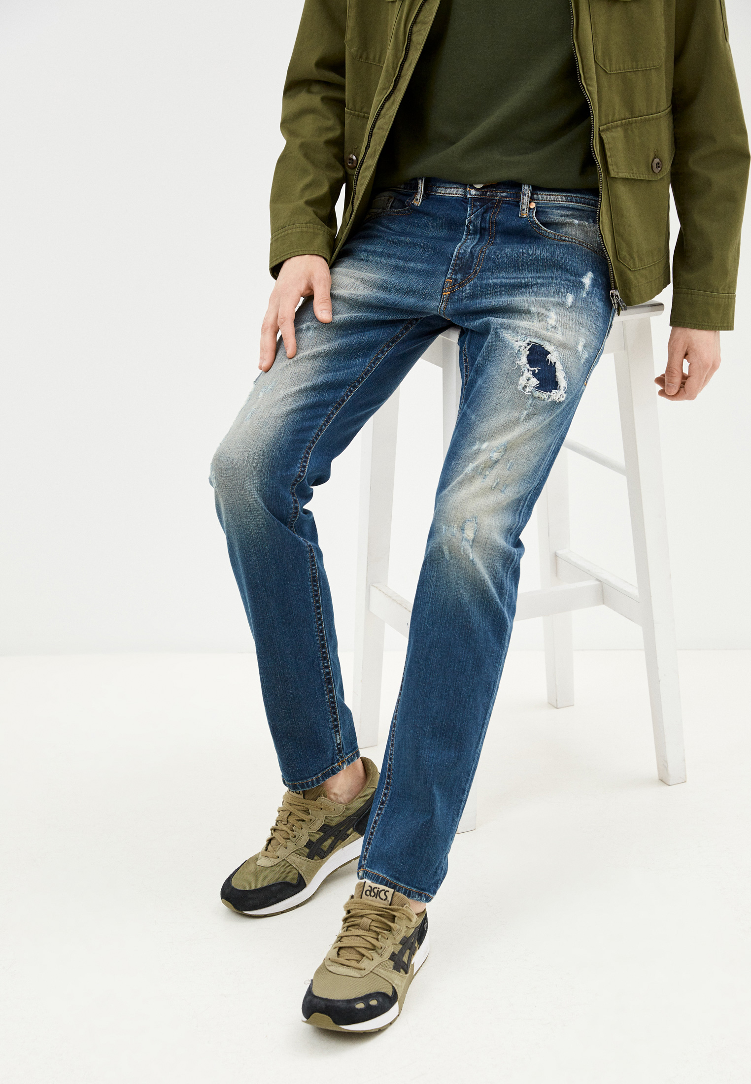 Мужские зауженные джинсы Diesel (Дизель) 00SW1QR48W3