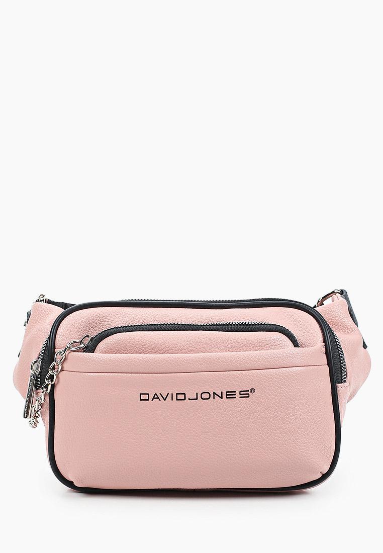Поясная сумка David Jones (Дэвид Джонс) 6529-1_розовый