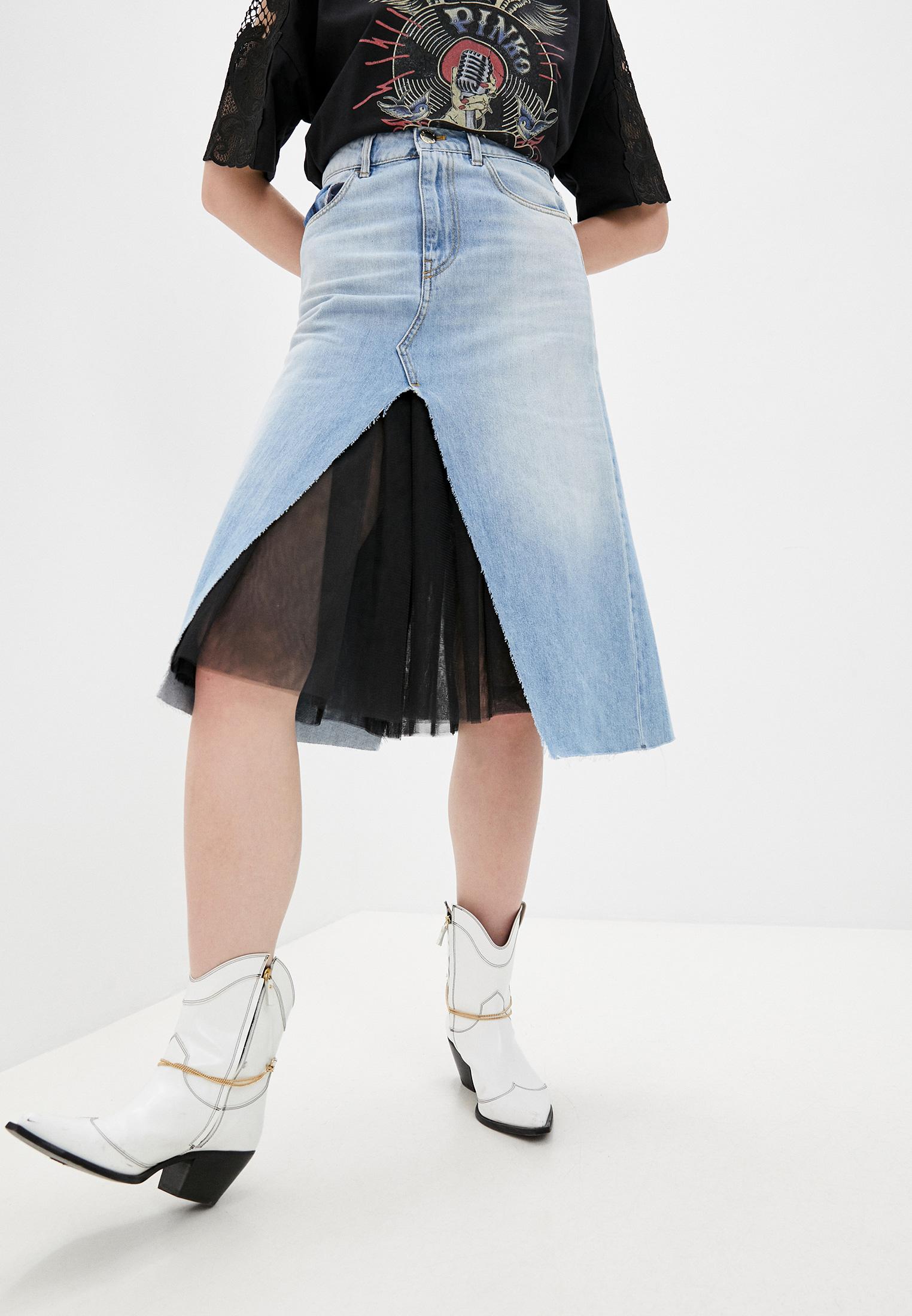 Джинсовая юбка Pinko (Пинко) 1J10F2Y5T5