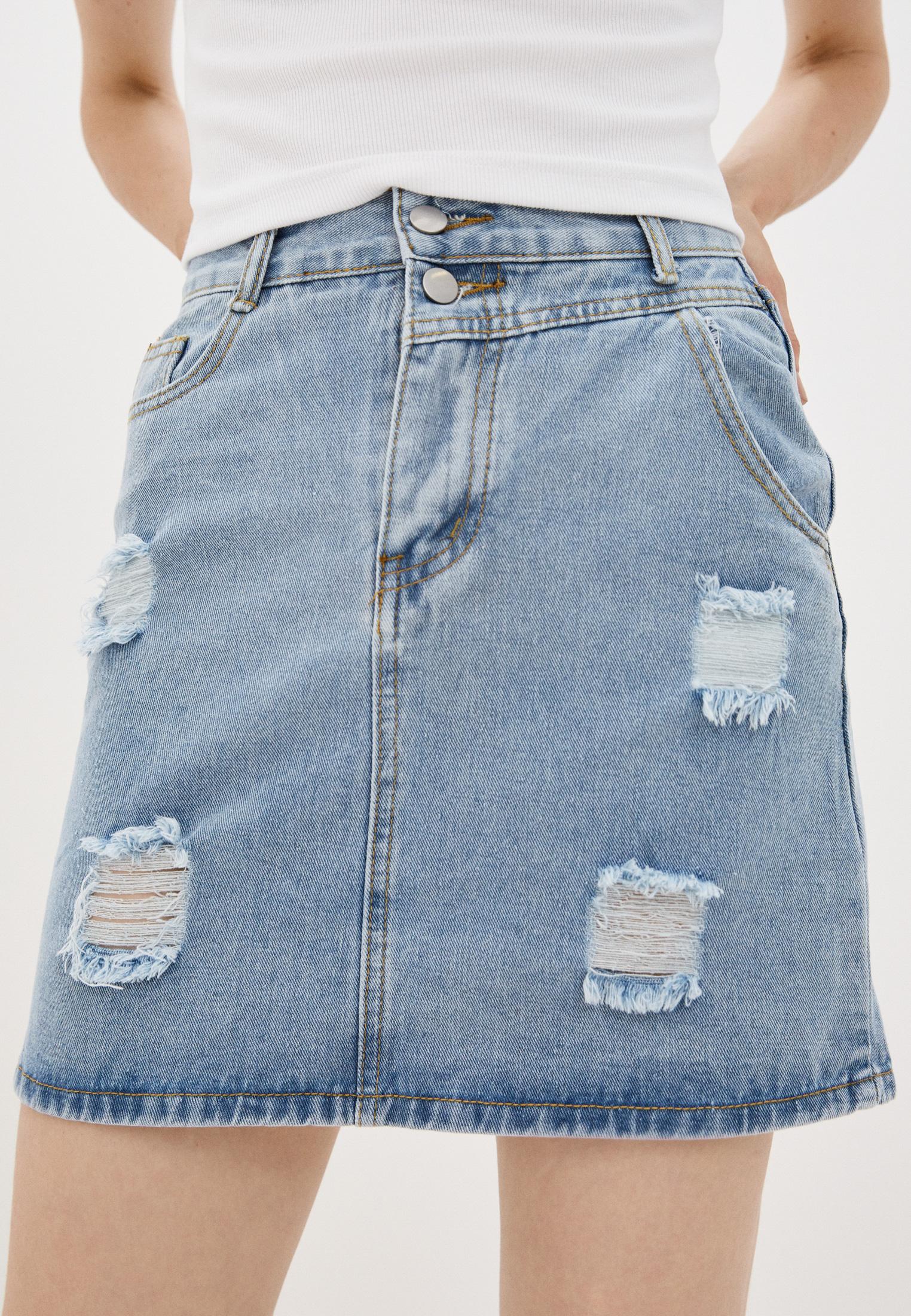 Джинсовая юбка Nerouge N518