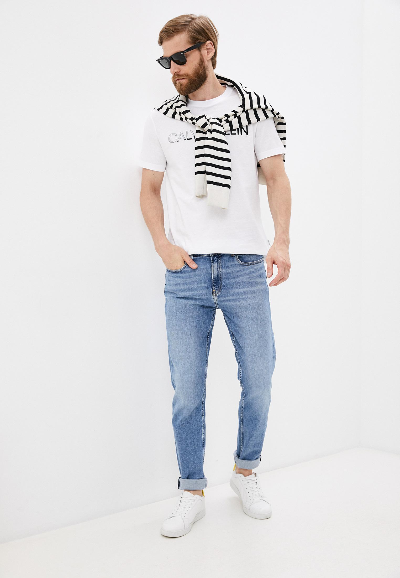 Зауженные джинсы Calvin Klein (Кельвин Кляйн) K10K107283: изображение 3