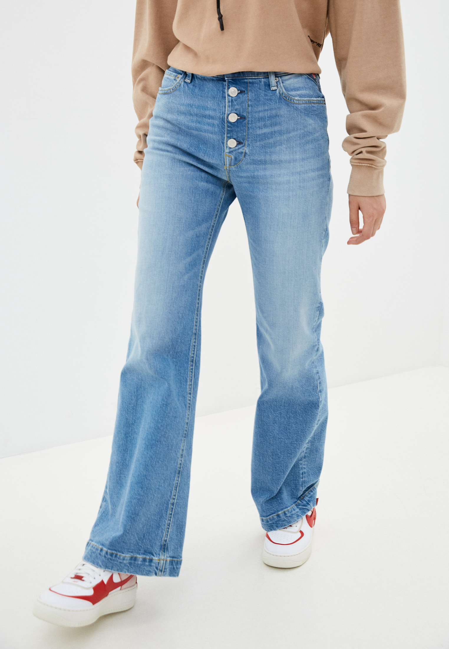 Широкие и расклешенные джинсы Replay (Реплей) Джинсы Replay
